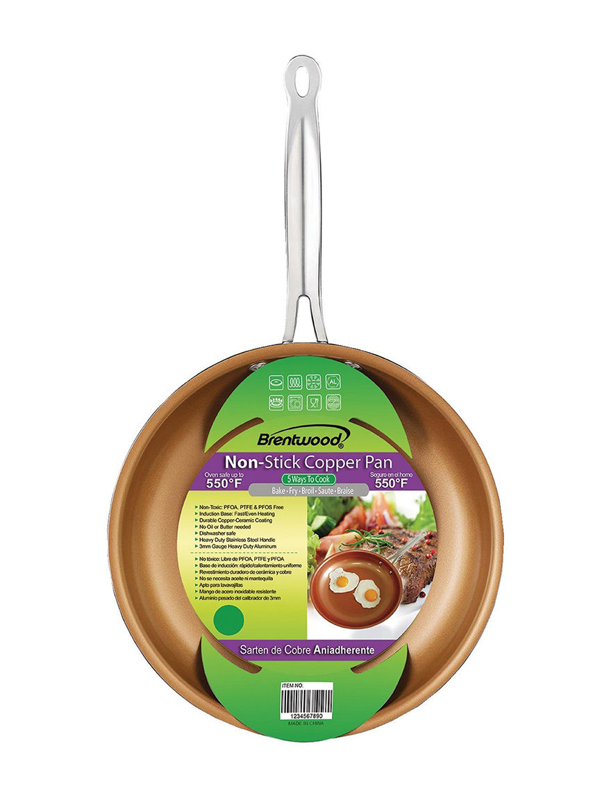 Brentwood Brown Frying Pans & Skillets Cookware