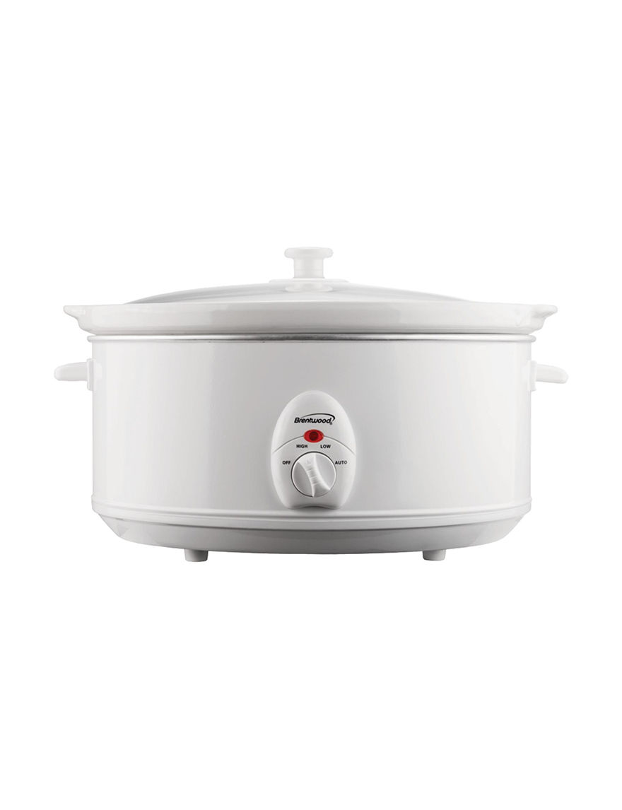 Brentwood White Pressure Cookers, Rice Cookers & Steamers Kitchen Appliances