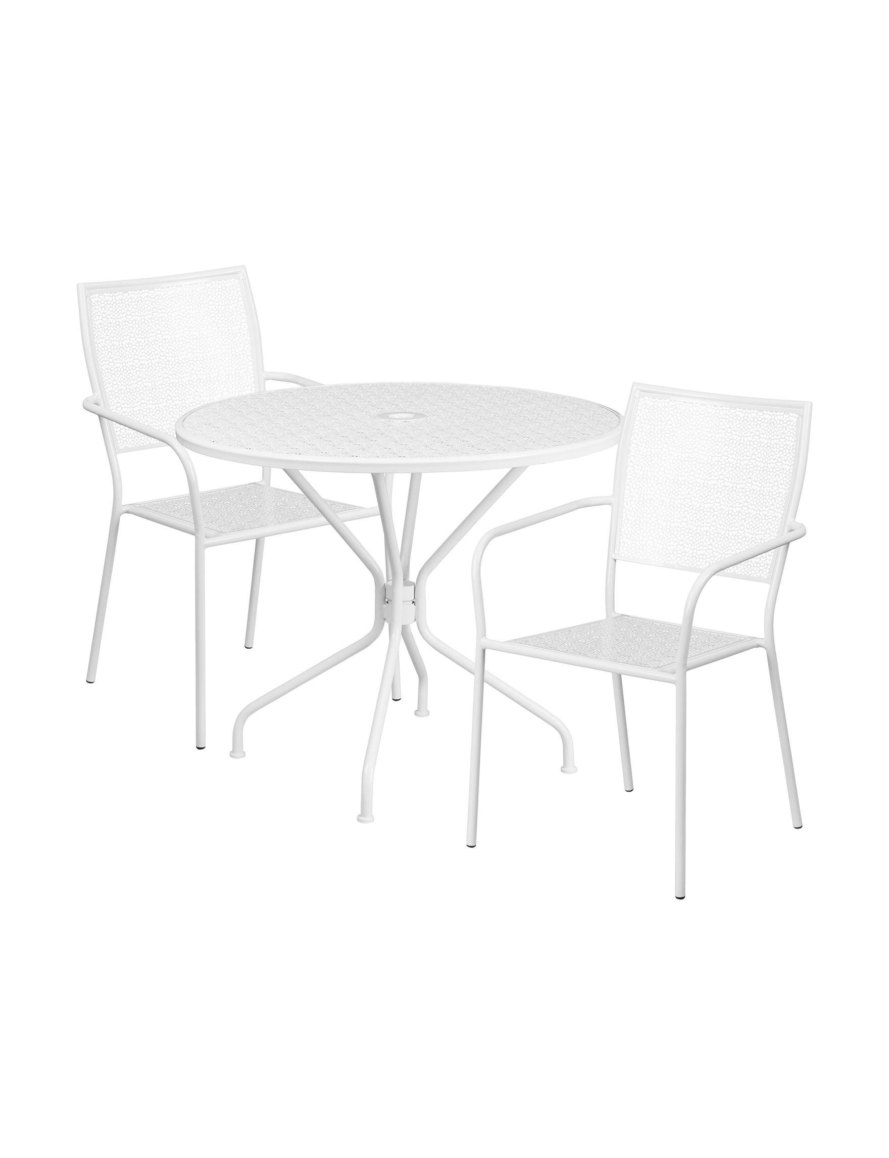 Flash Furniture White Patio & Outdoor Furniture