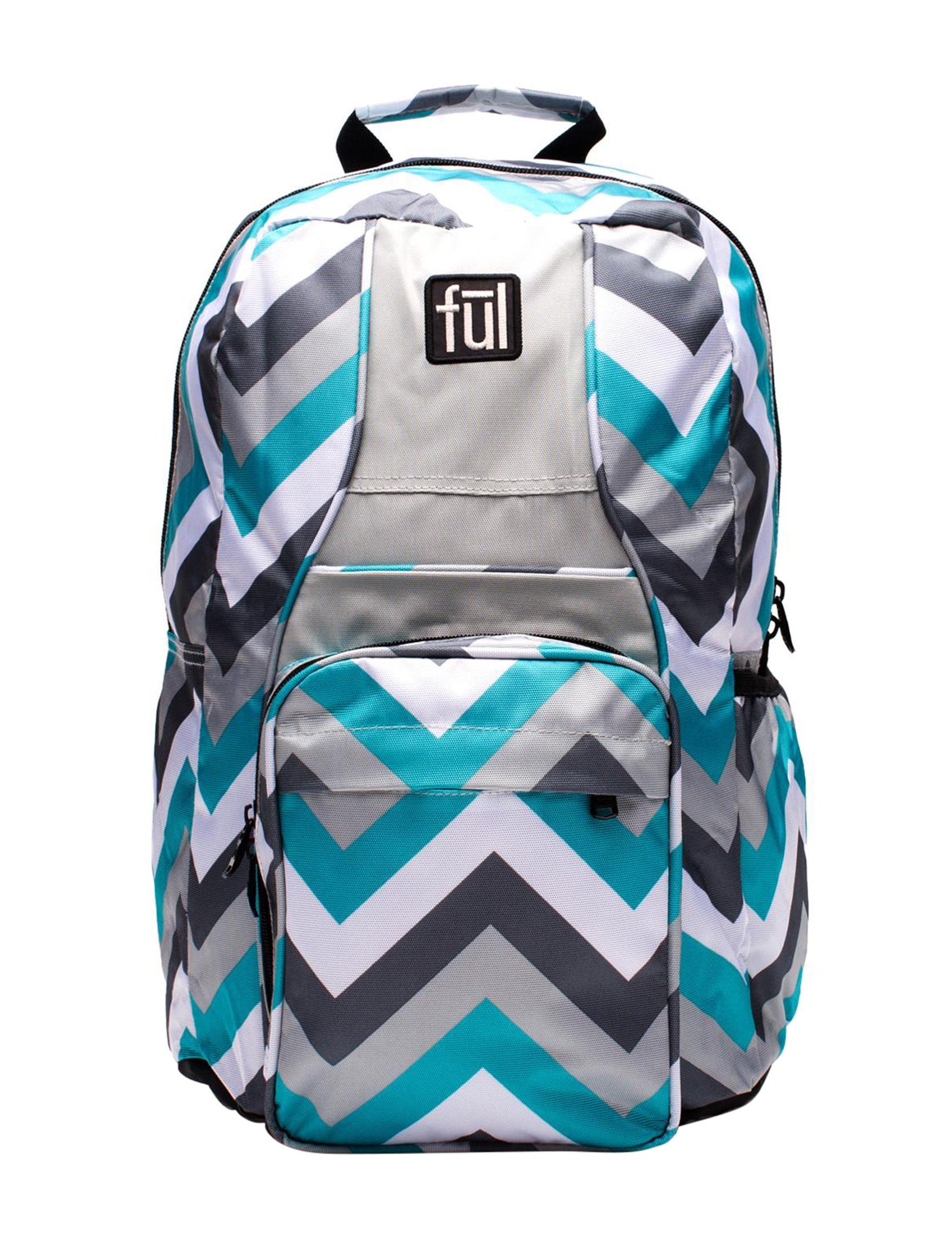 Ful Blue Multi Bookbags & Backpacks