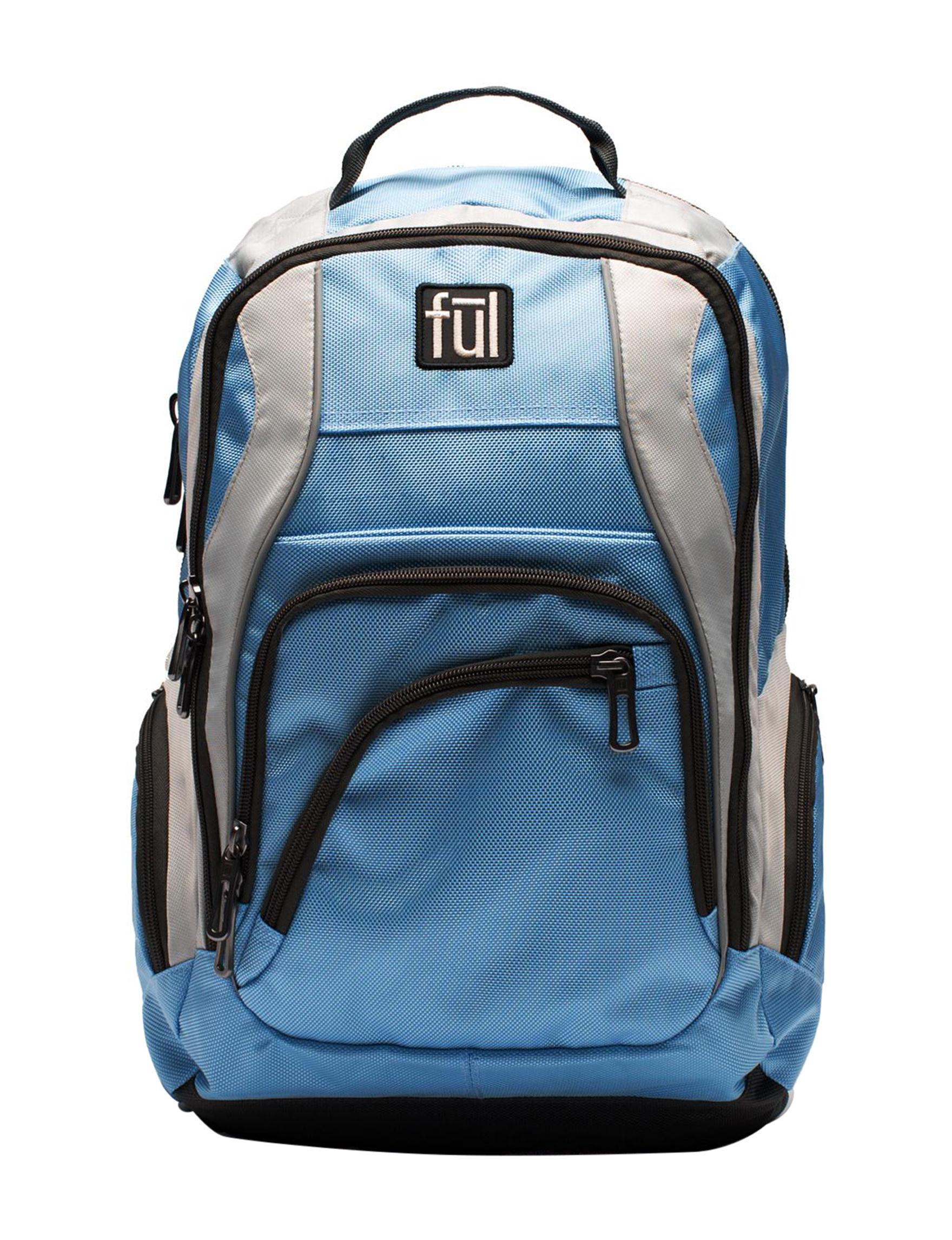 Ful Light Blue Bookbags & Backpacks Laptop & Messenger Bags