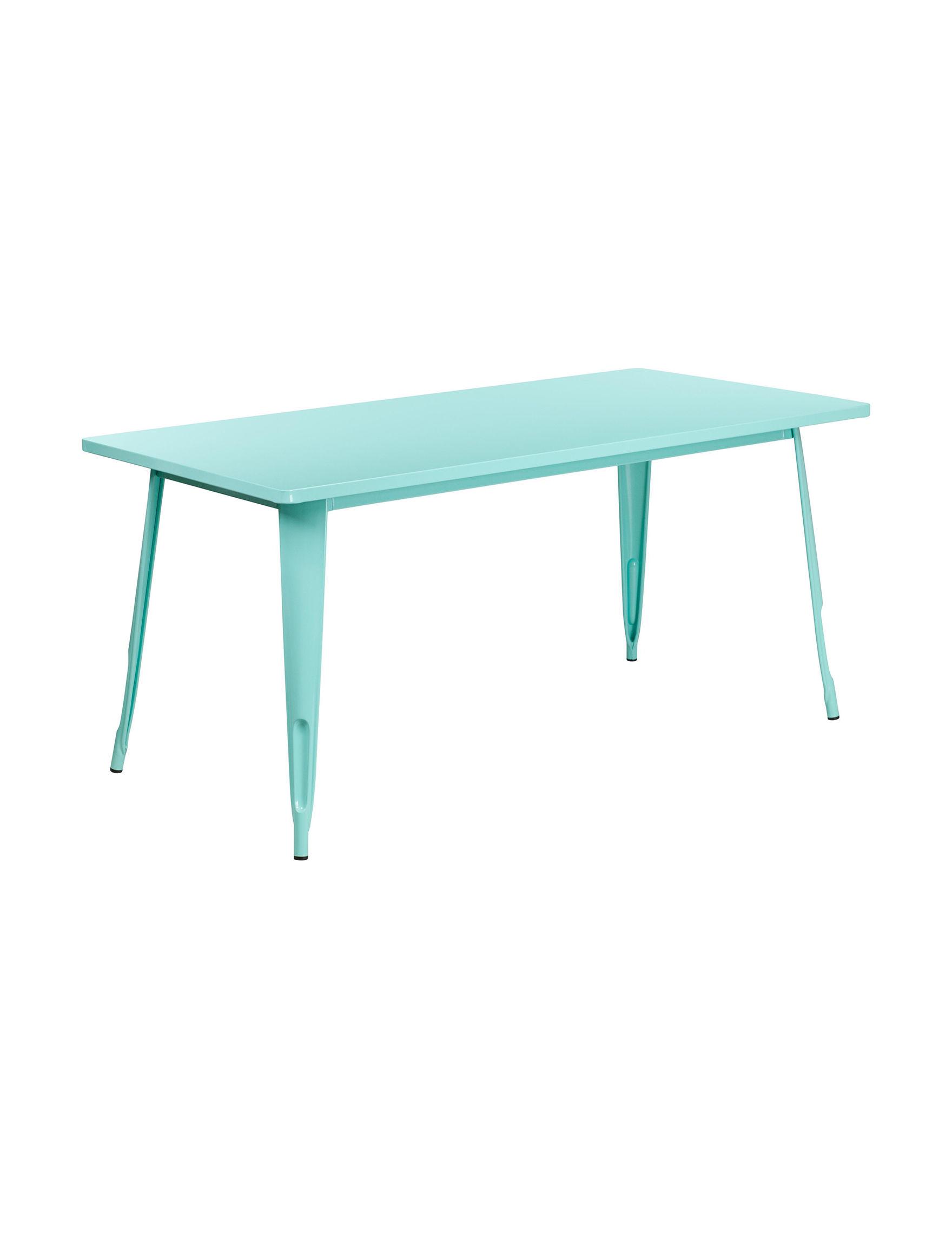 Flash Furniture White / Green Patio & Outdoor Furniture