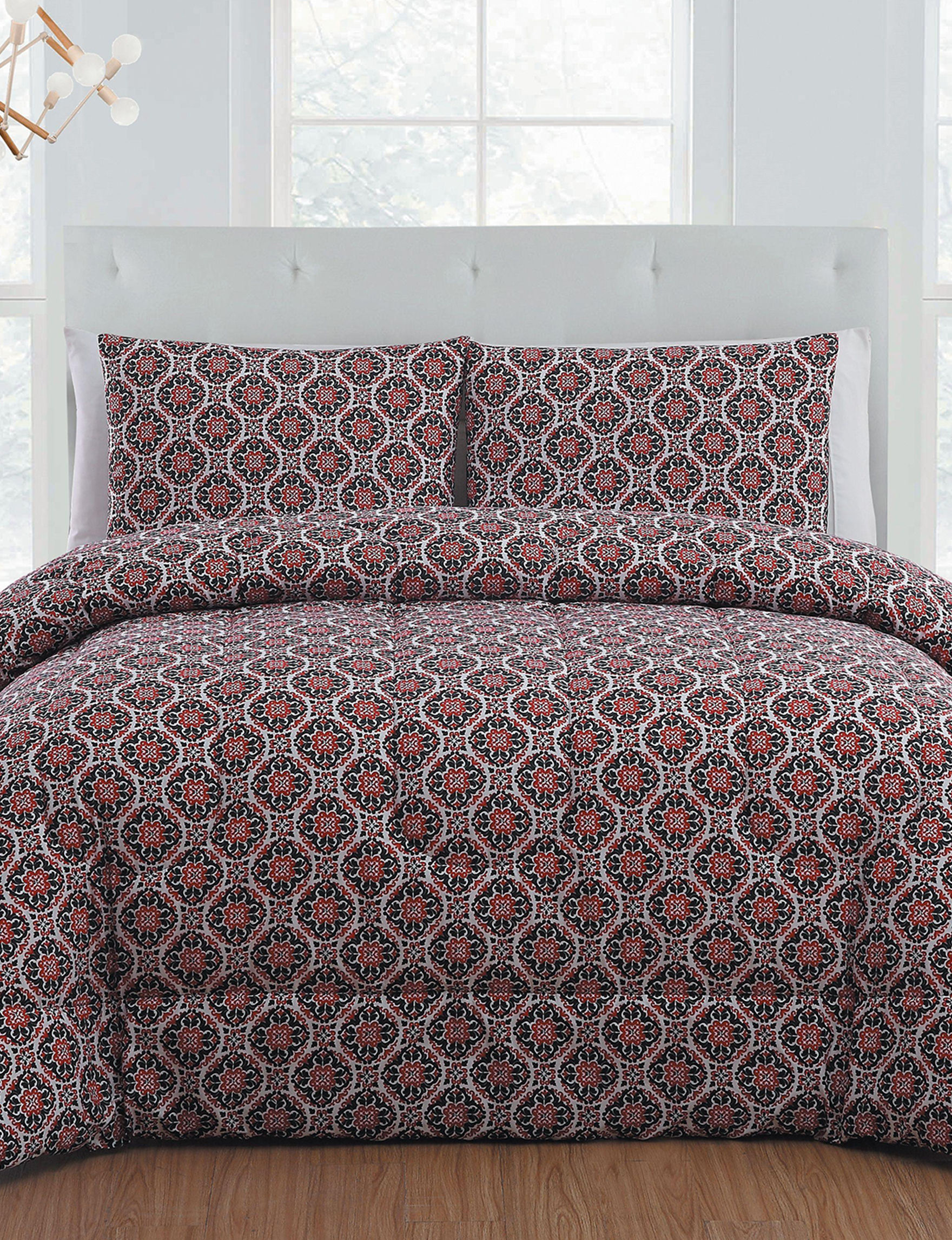 Harper Home Red / Black Comforters & Comforter Sets