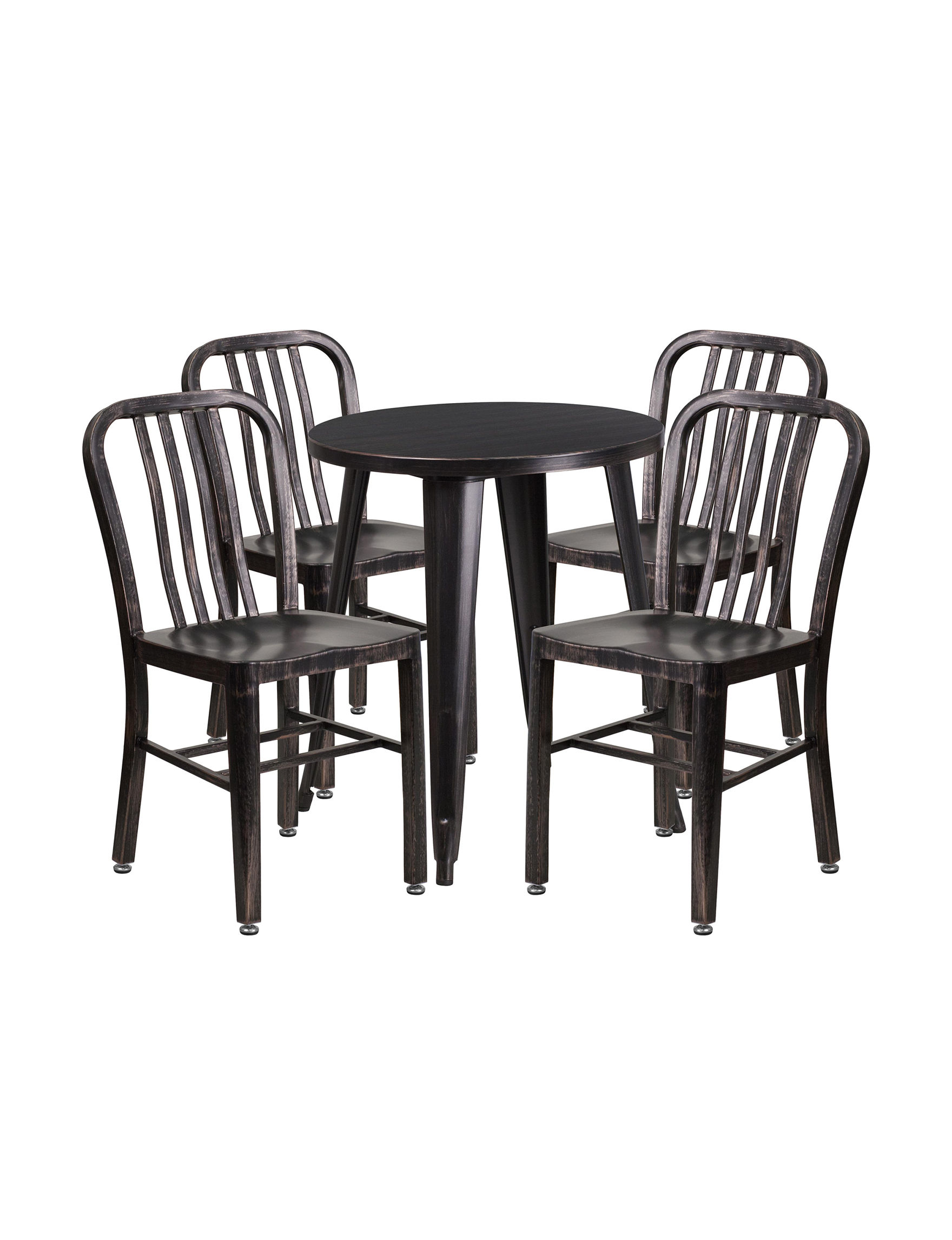 Flash Furniture Black / Gold Kitchen & Dining Furniture Outdoor Decor Outdoor Entertaining Patio & Outdoor Furniture