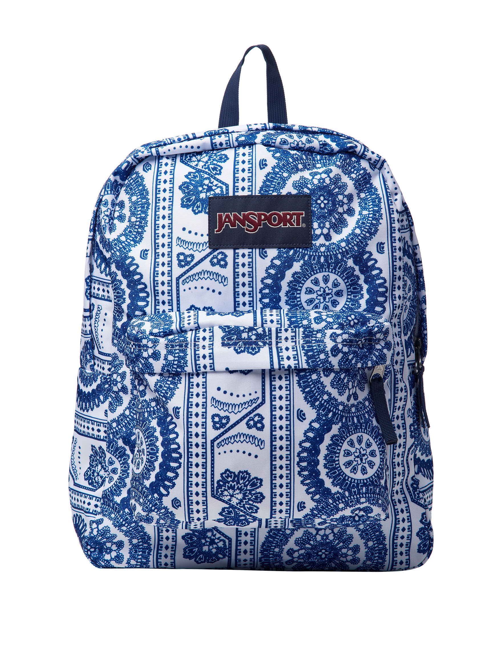 Jansport White / Blue Bookbags & Backpacks
