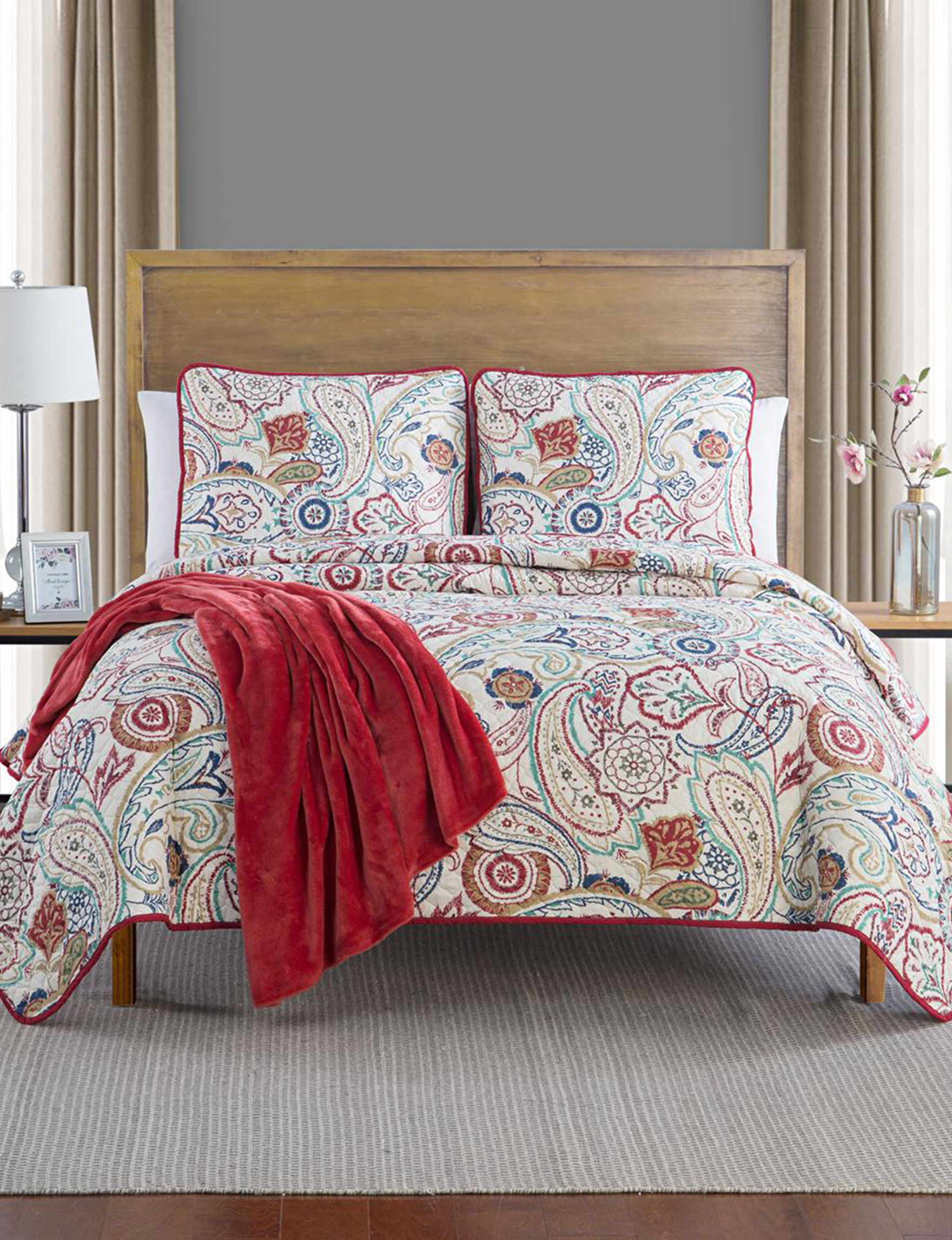 Jessica Sanders Red Multi Quilts & Quilt Sets