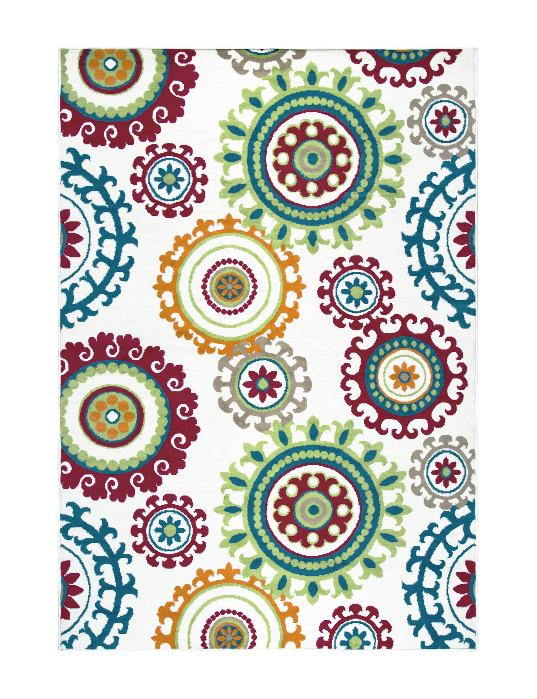 Rizzy Home White/Multi Area Rugs Rugs