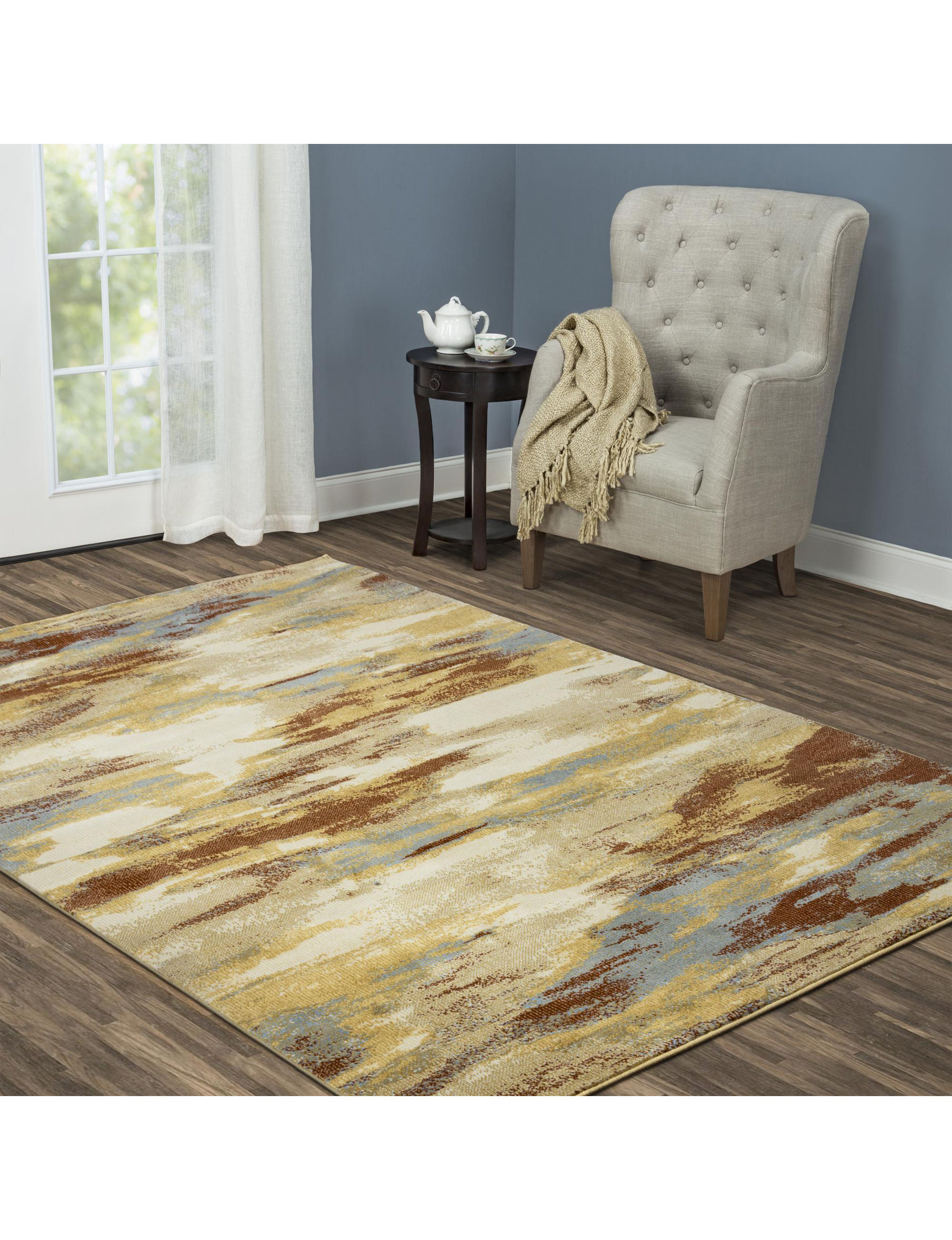 Rizzy Home Beige / Multi Area Rugs Rugs