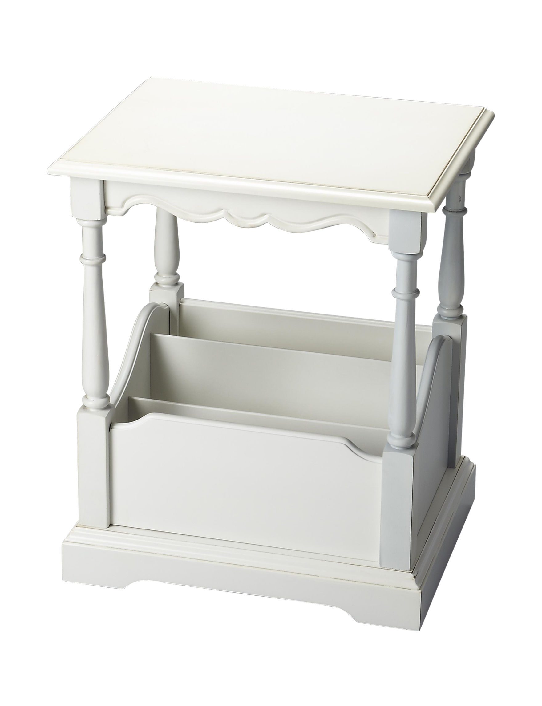Butler Specialty Co. White Accent & End Tables Bedroom Furniture Living Room Furniture