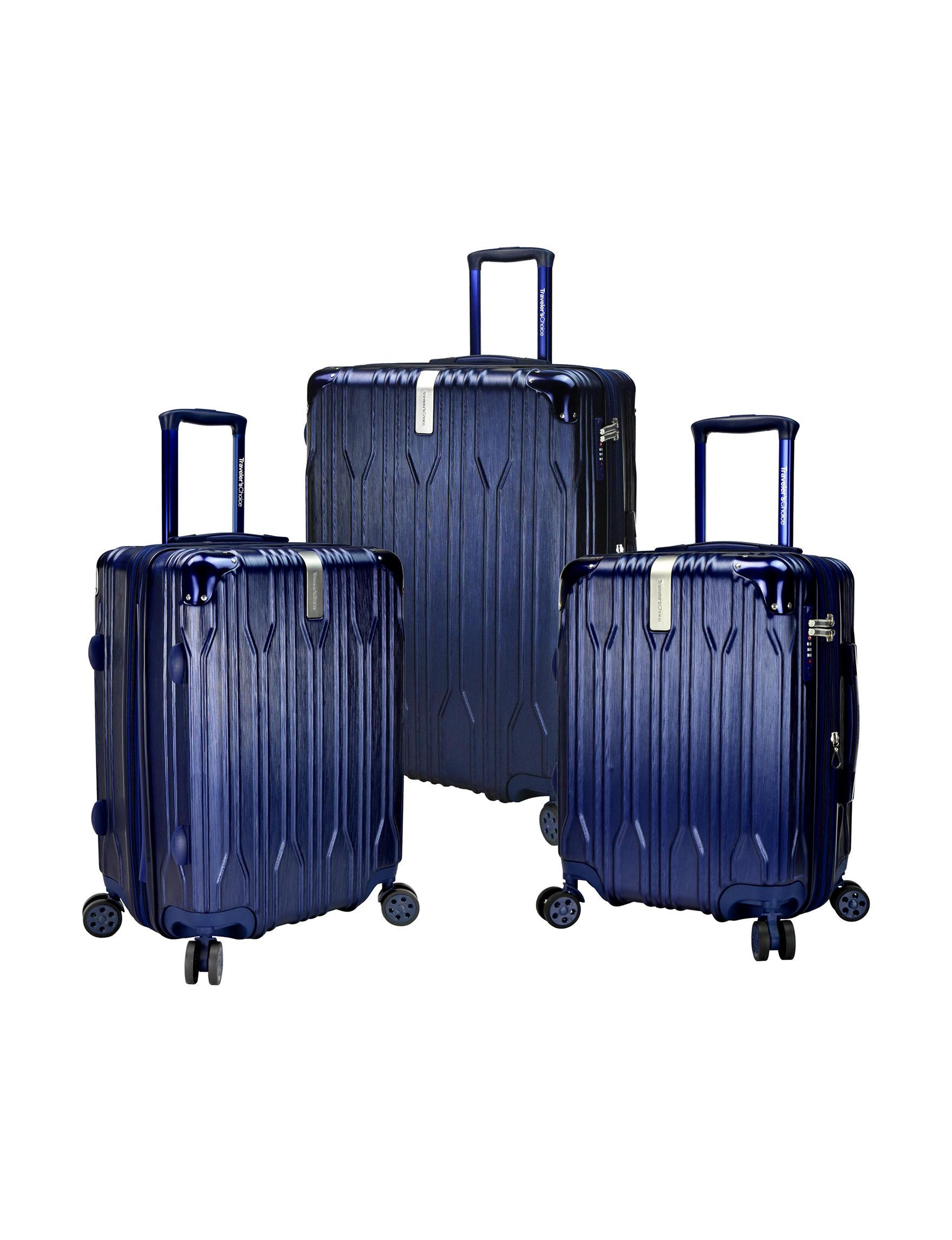 Travelers Choice Navy Luggage Sets