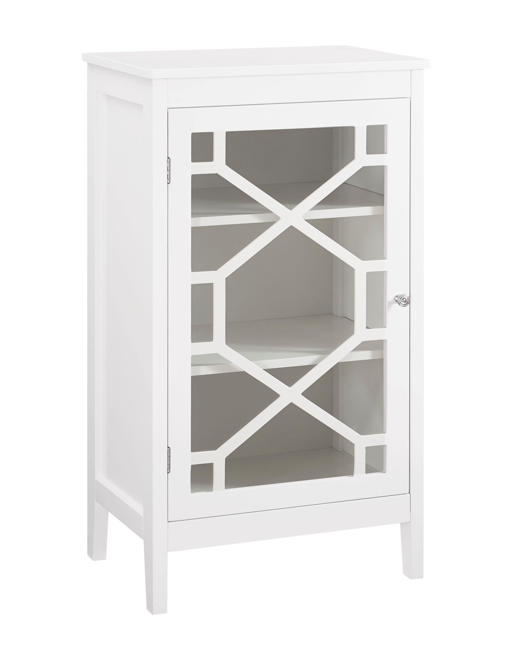 Linon White Cabinets & Cupboards Living Room Furniture