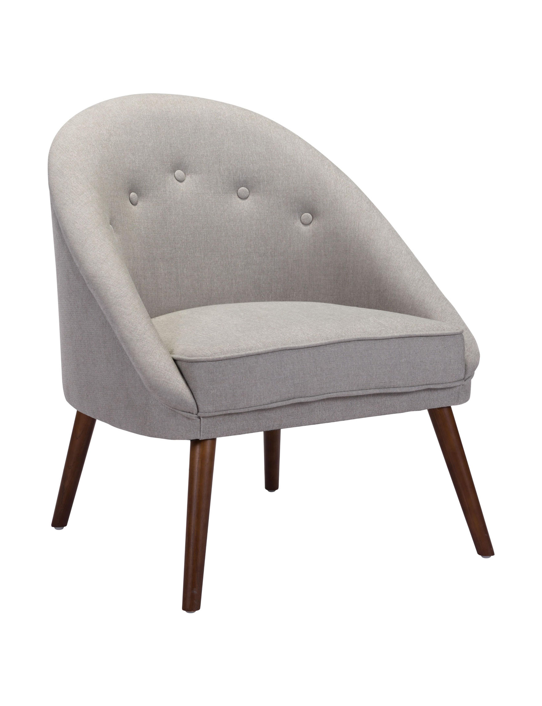 Zuo Modern Light Grey Accent Chairs Living Room Furniture