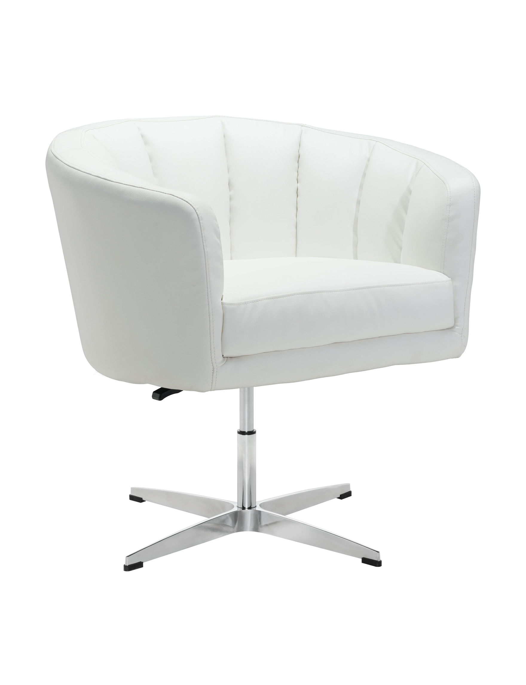 Zuo Modern White Accent Chairs Living Room Furniture