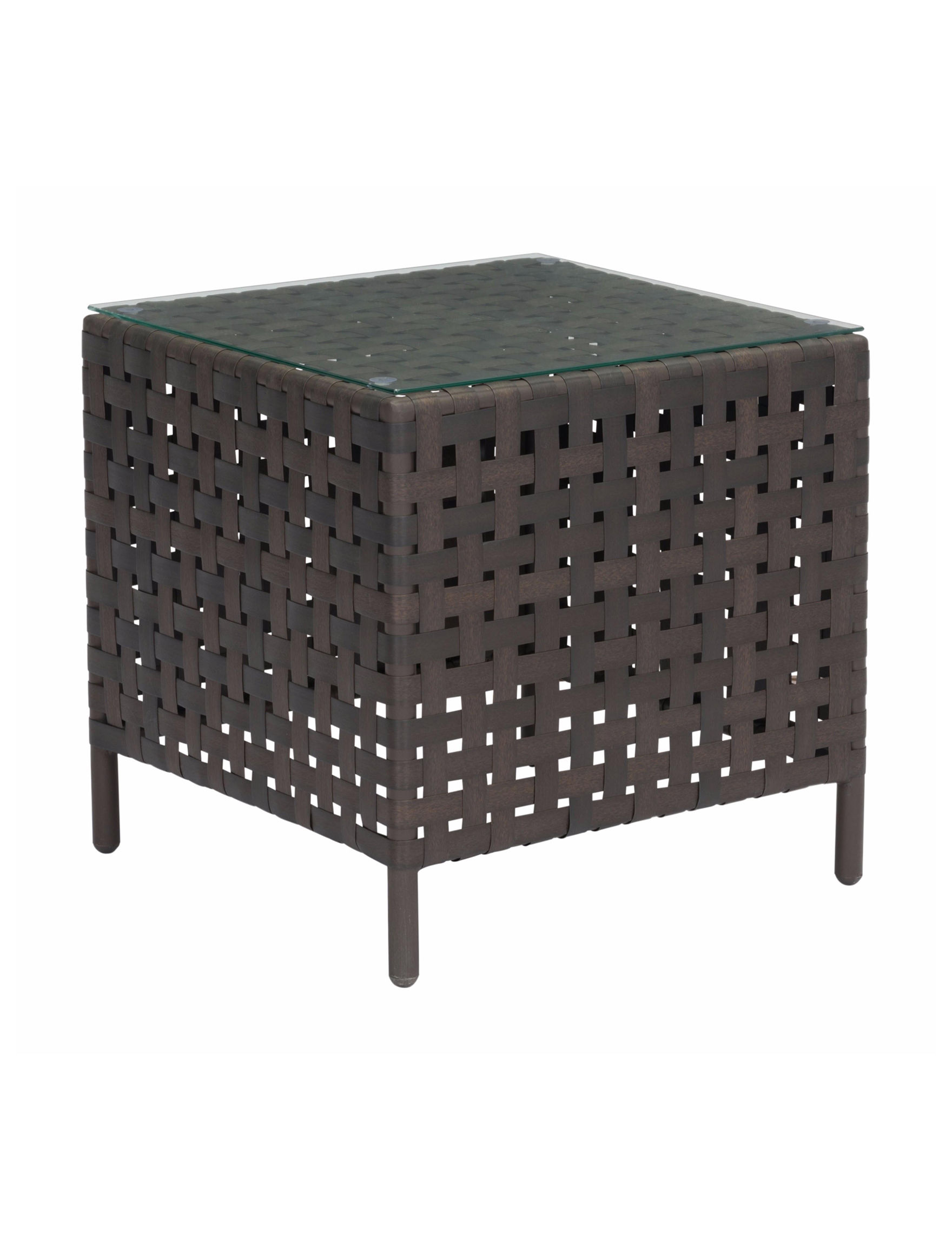 Zuo Modern Brown Accent & End Tables Living Room Furniture Patio & Outdoor Furniture