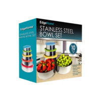 Edge Home 10-pc. Stainless Steel Mixing Bowl Set Deals