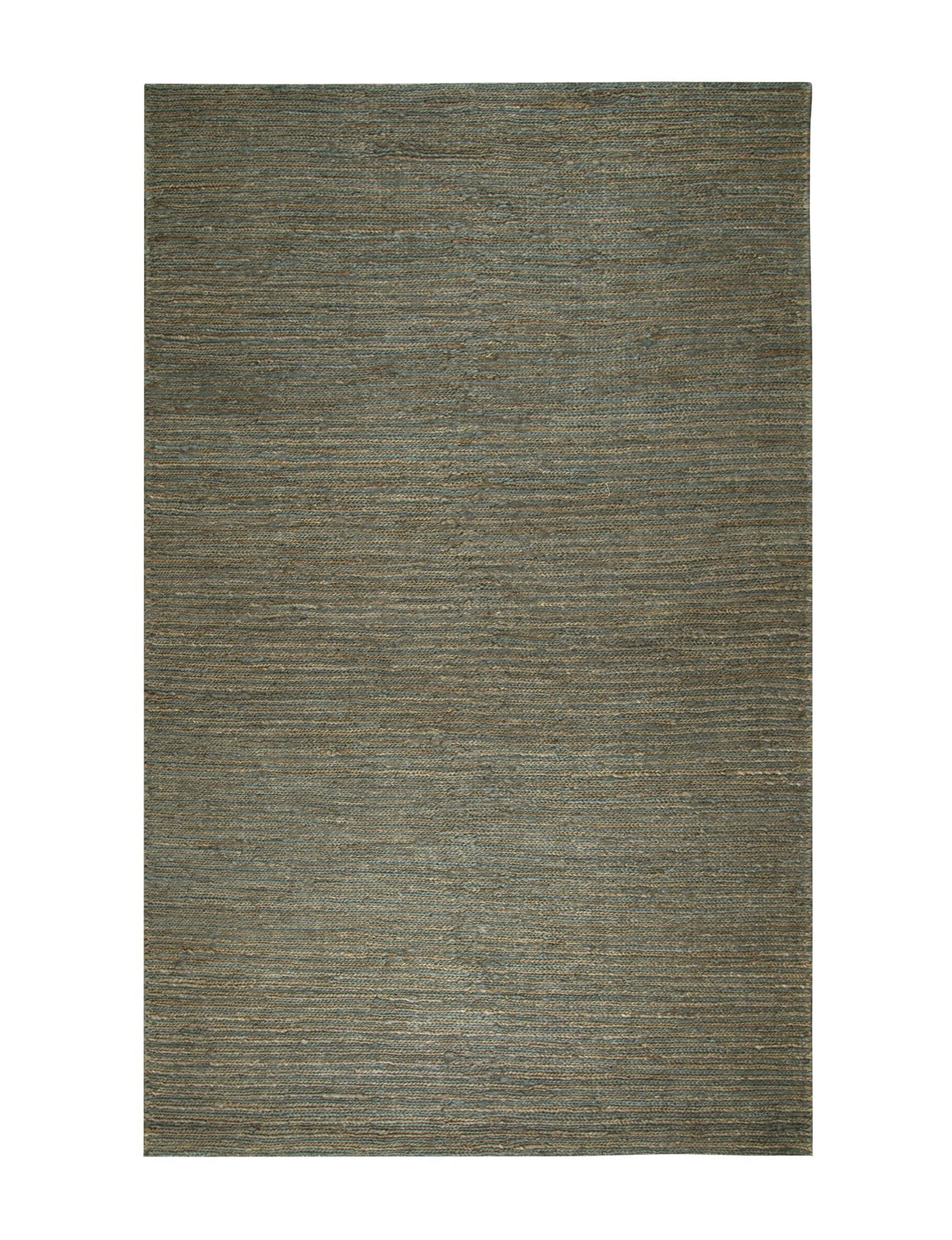 Rizzy Home Brown / Blue Area Rugs Rugs