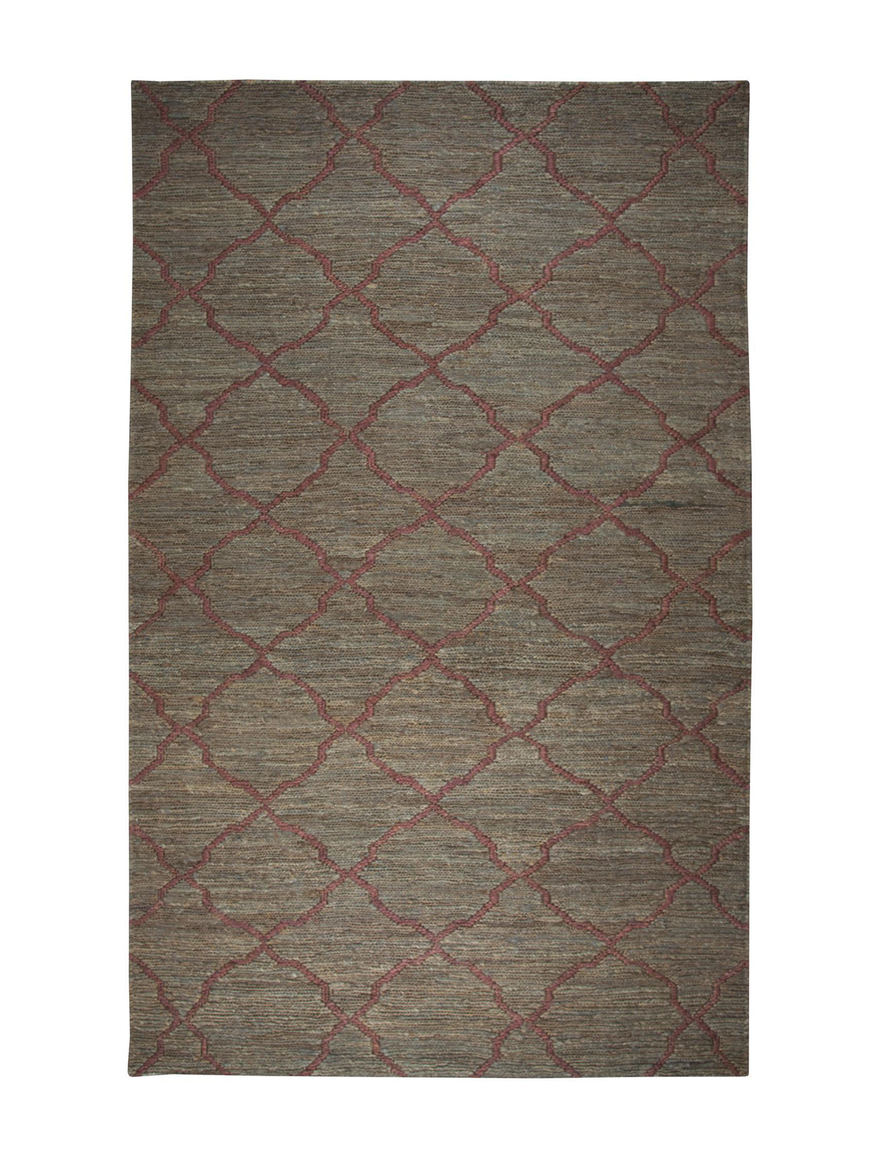 Rizzy Home Brown / Red Area Rugs Rugs