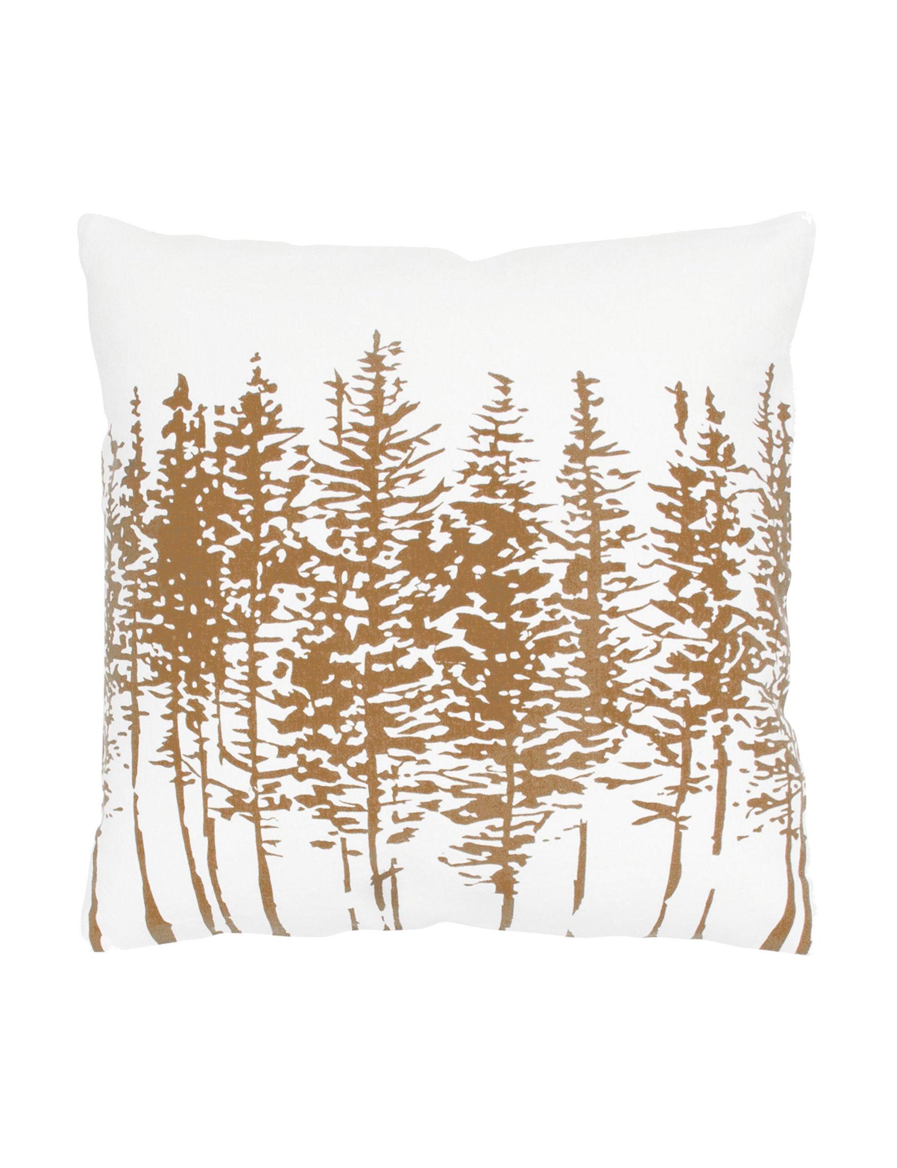 Rizzy Home White / Brown Decorative Pillows