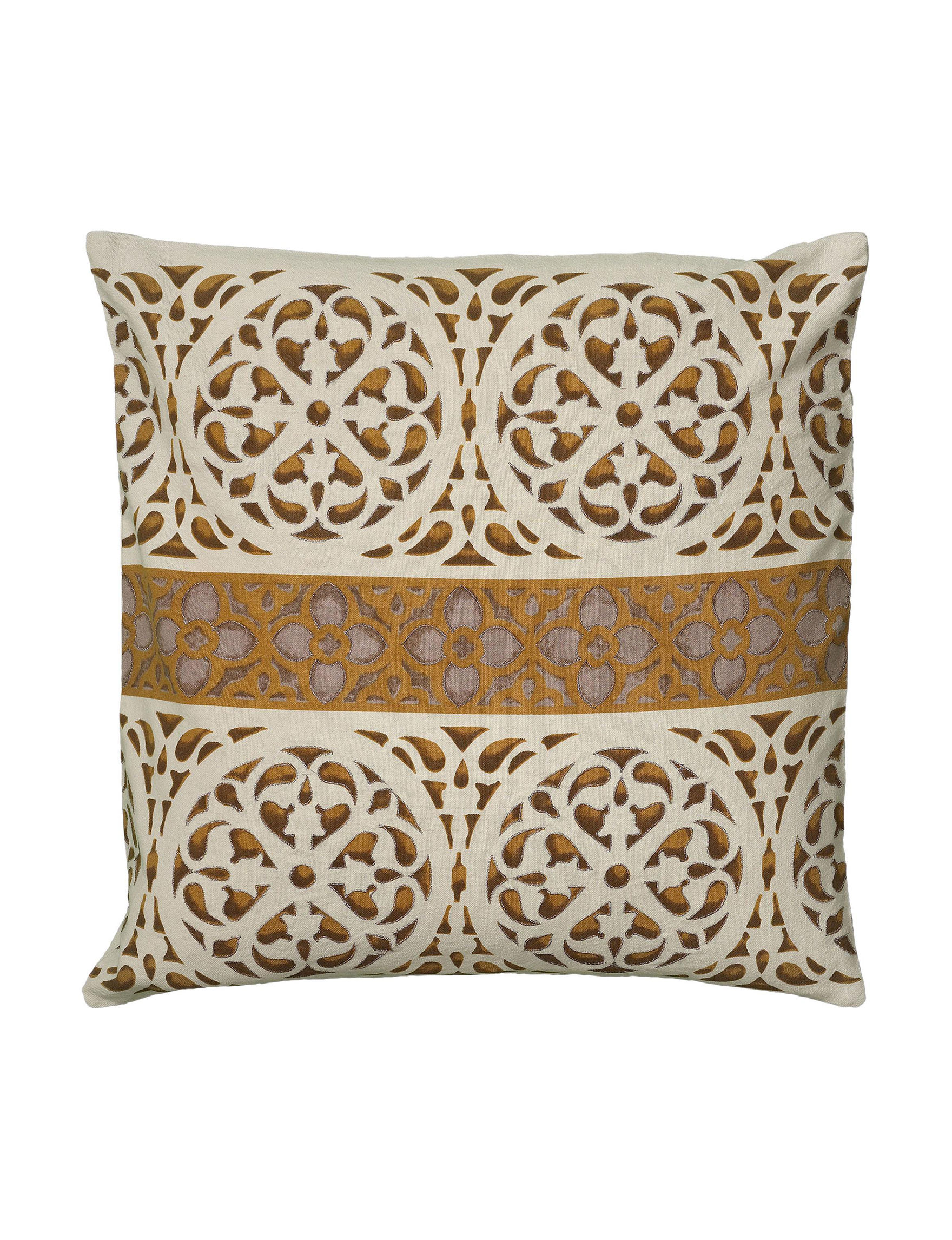 Rizzy Home Beige Decorative Pillows