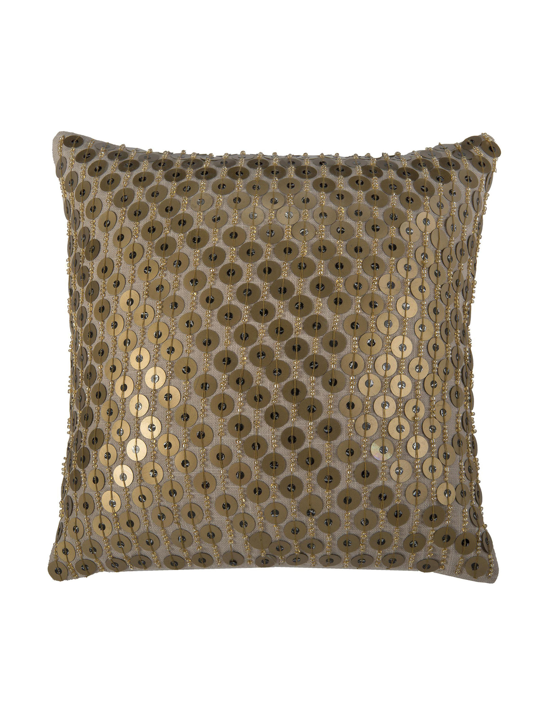 Rizzy Home Khaki Decorative Pillows