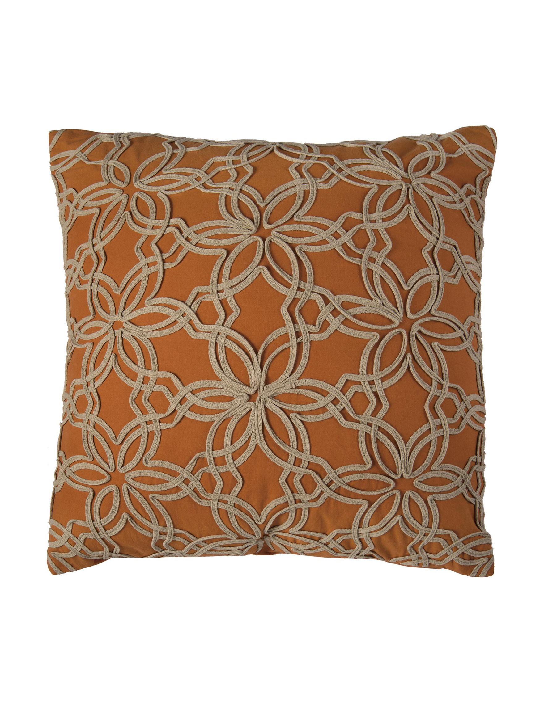 Rizzy Home Orange Decorative Pillows