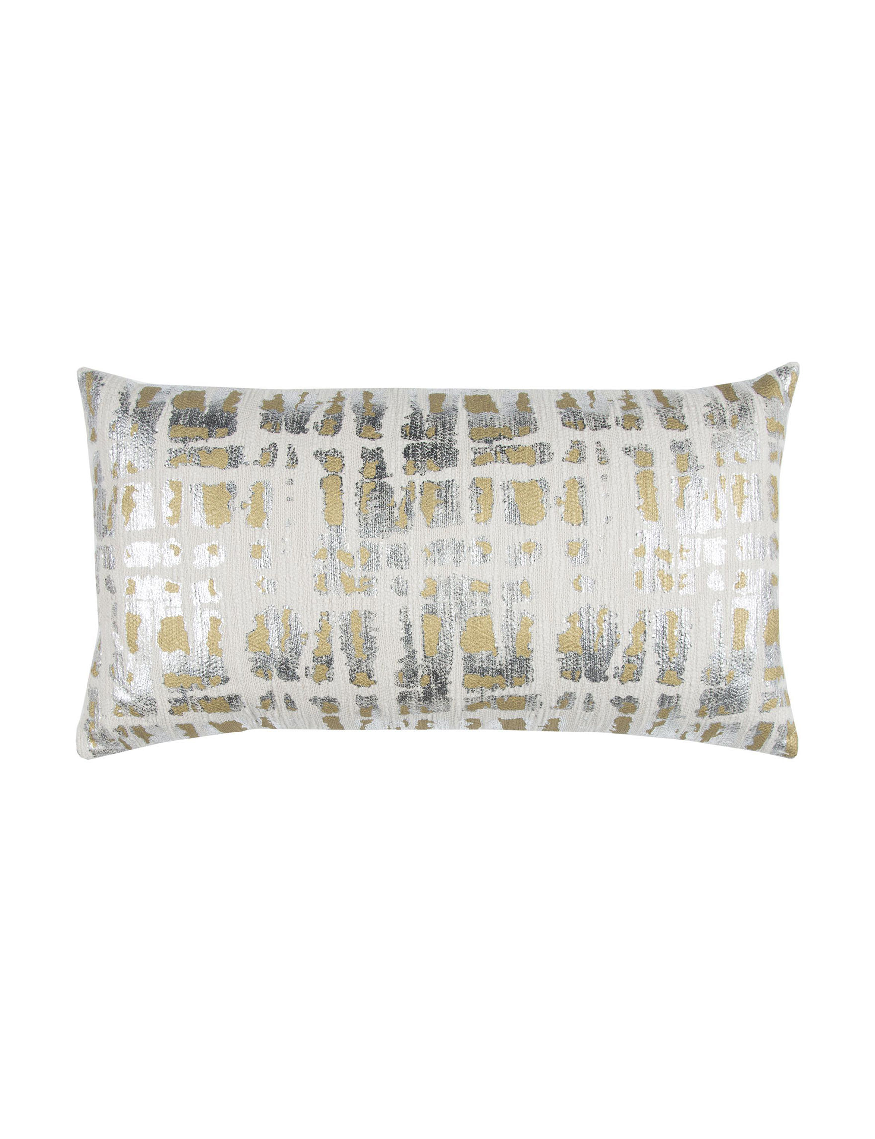 Rizzy Home Beige Pewter/Green Moss Decorative Pillows