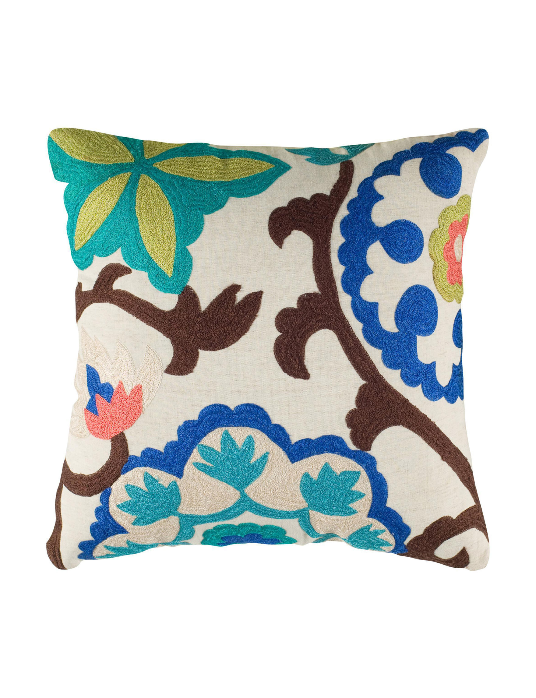 Rizzy Home Floral / Multi Decorative Pillows