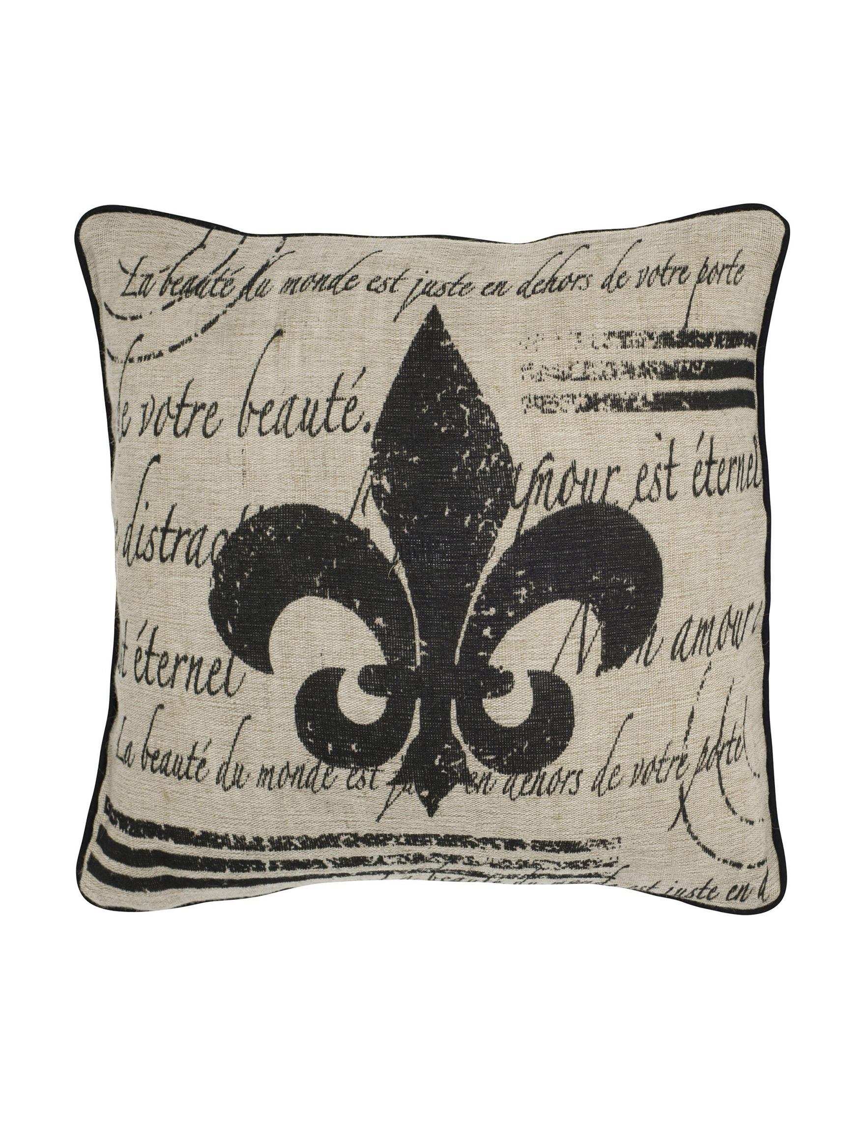 Rizzy Home Beige / Black Bed Pillows