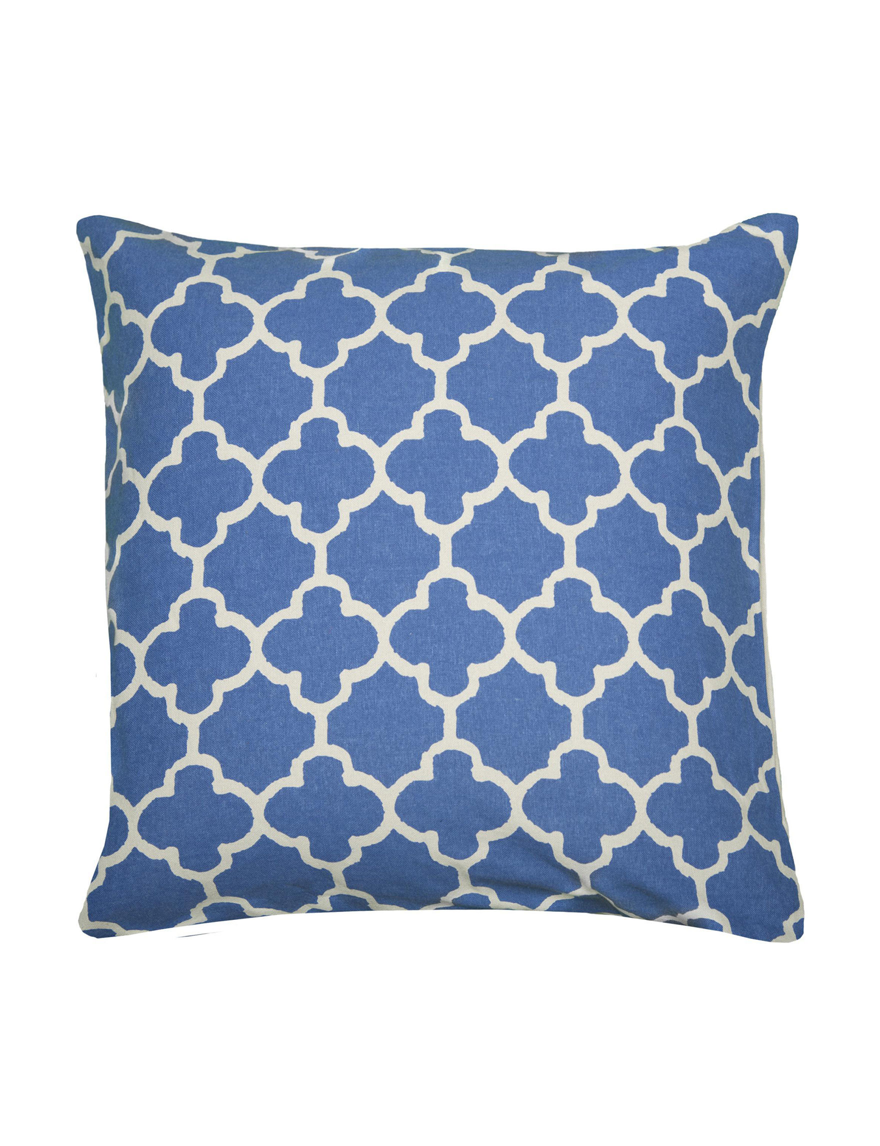 Rizzy Home Beige / Blue Decorative Pillows