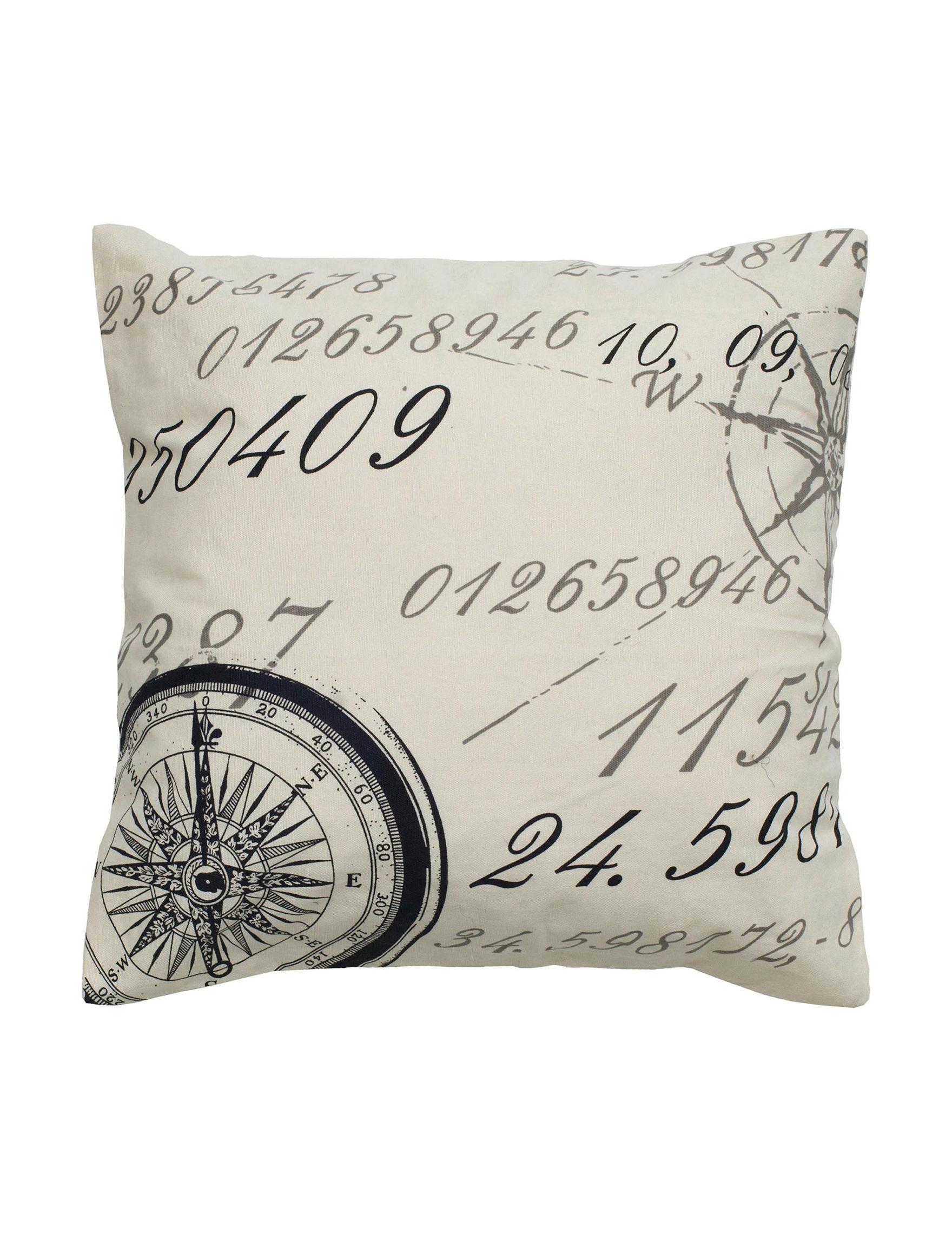 Rizzy Home Cream / Black Decorative Pillows