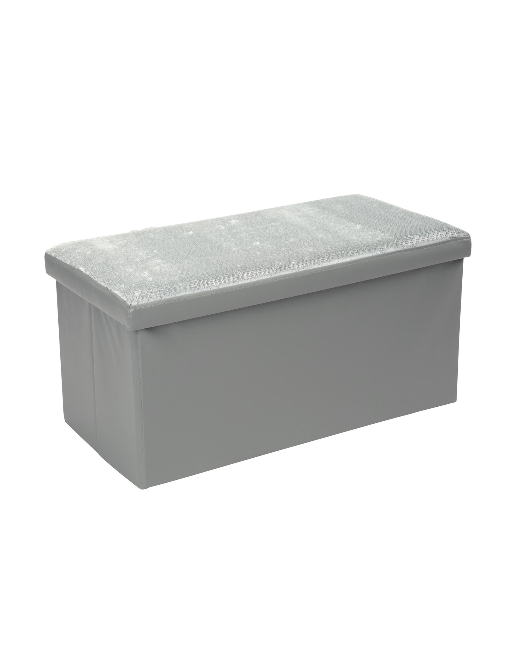 Simplify Silver Ottomans & Benches Living Room Furniture