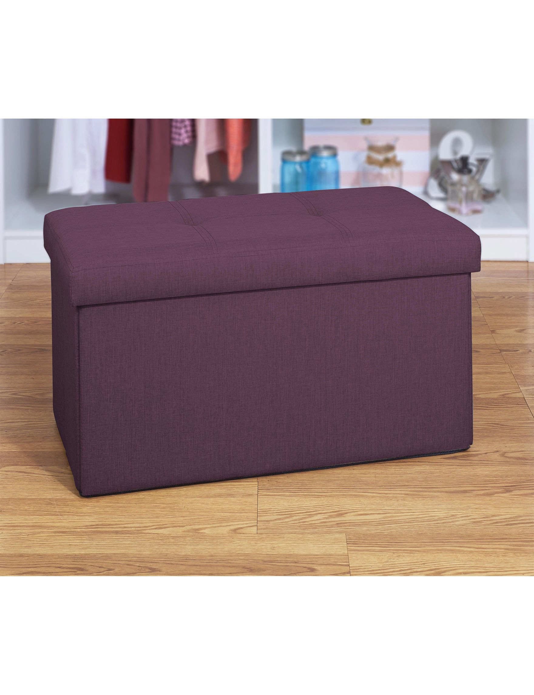 Simplify Burgundy Ottomans & Benches Living Room Furniture