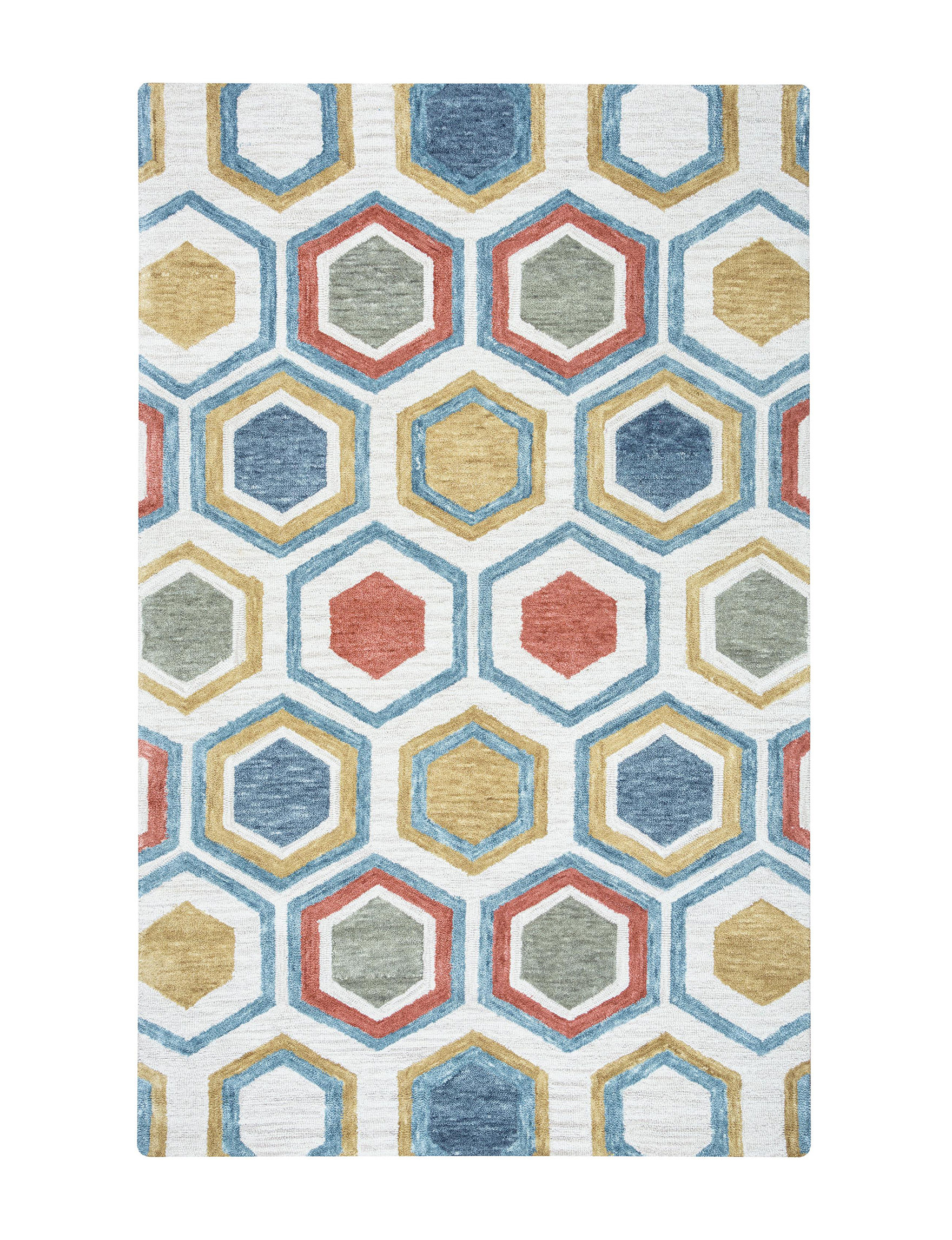 Rizzy Home White / Multi Area Rugs Rugs