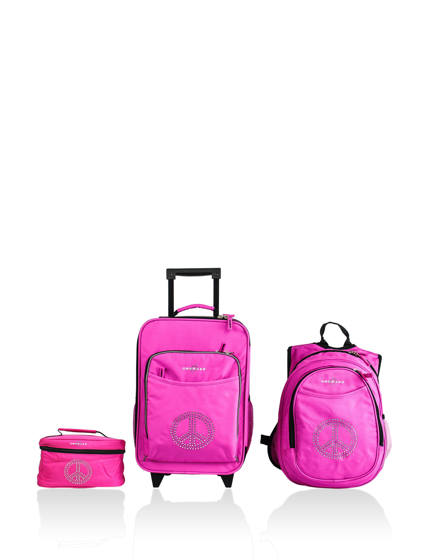 Obersee Pink Luggage Sets