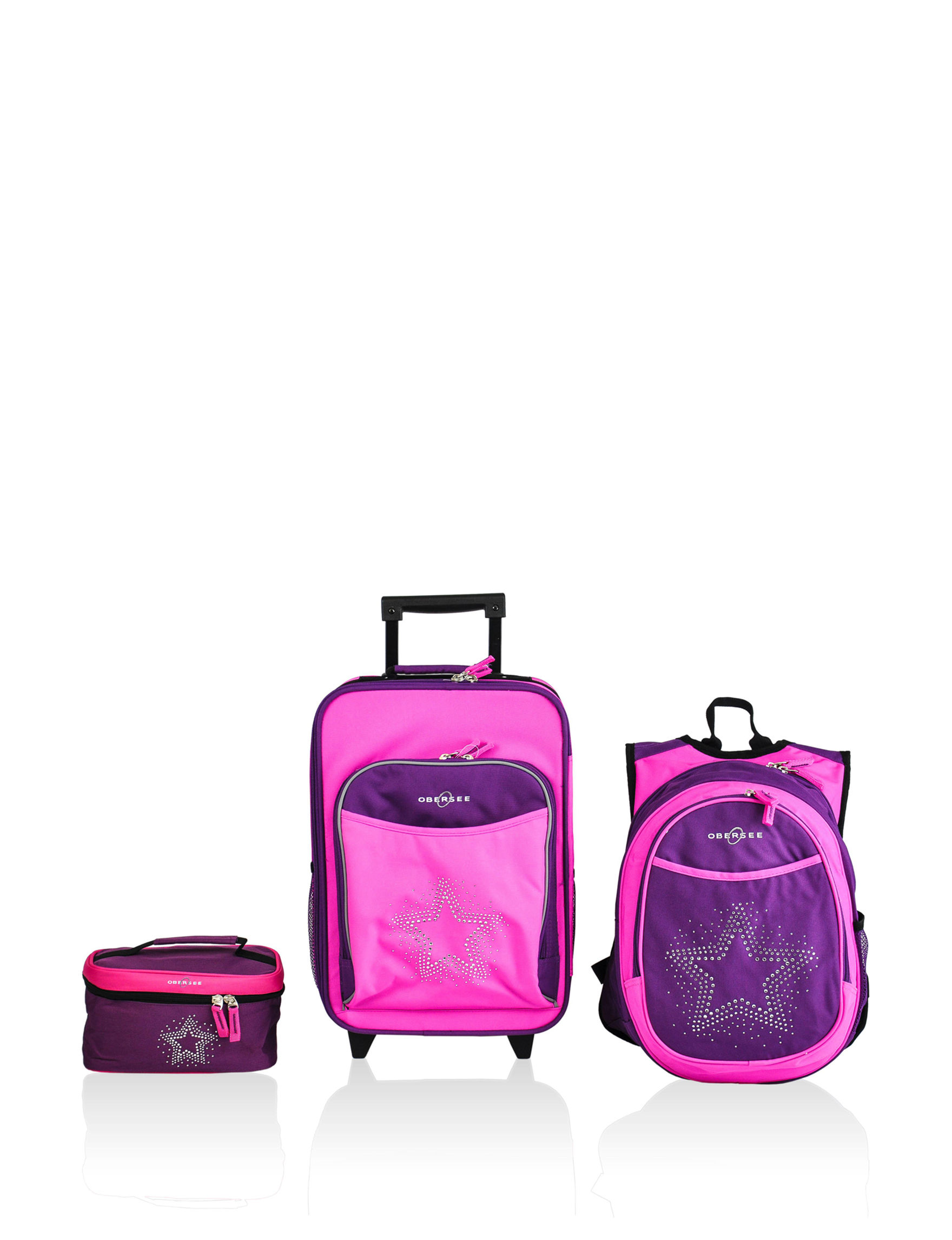 Obersee Purple / Pink Luggage Sets