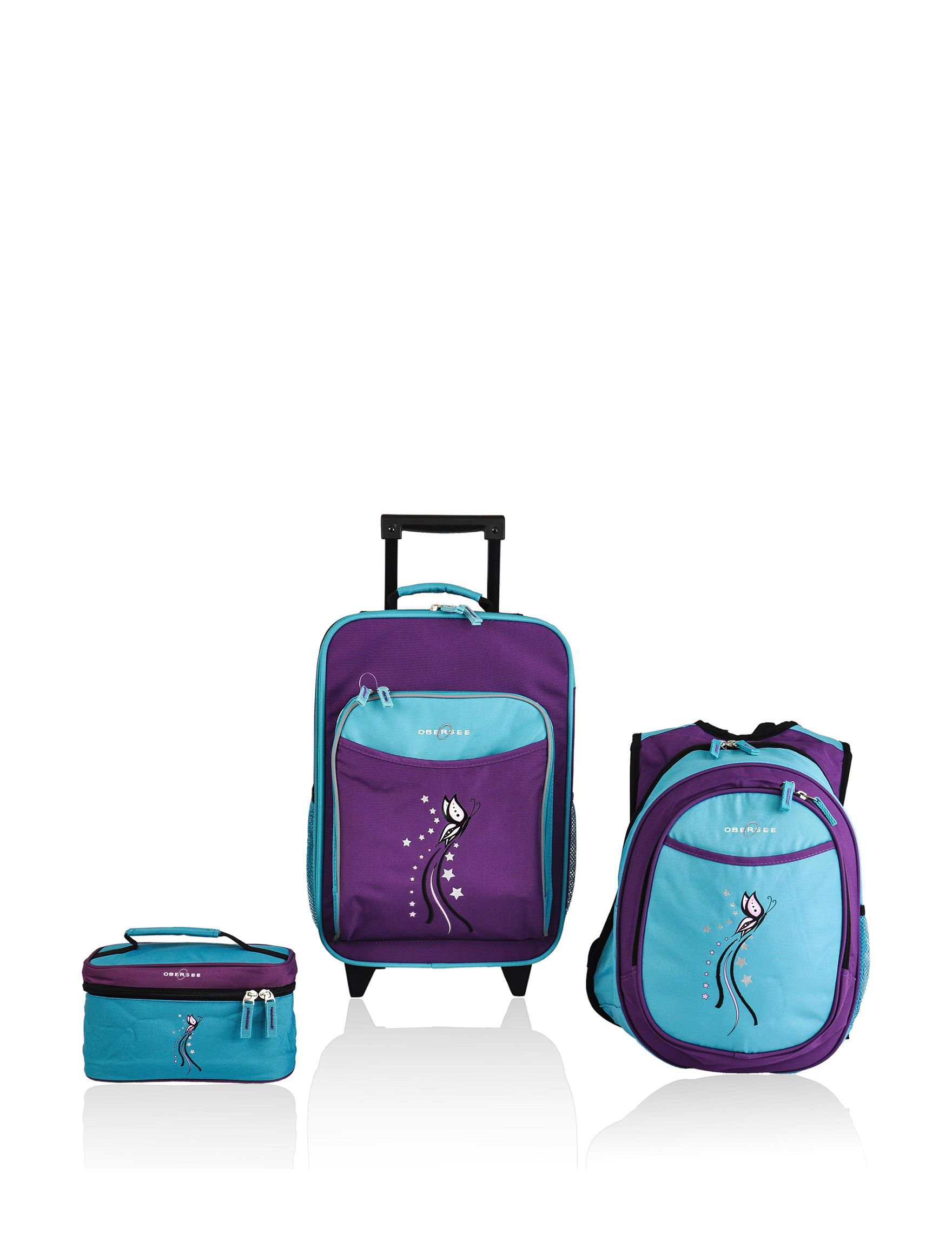 Obersee Blue / Purple Luggage Sets