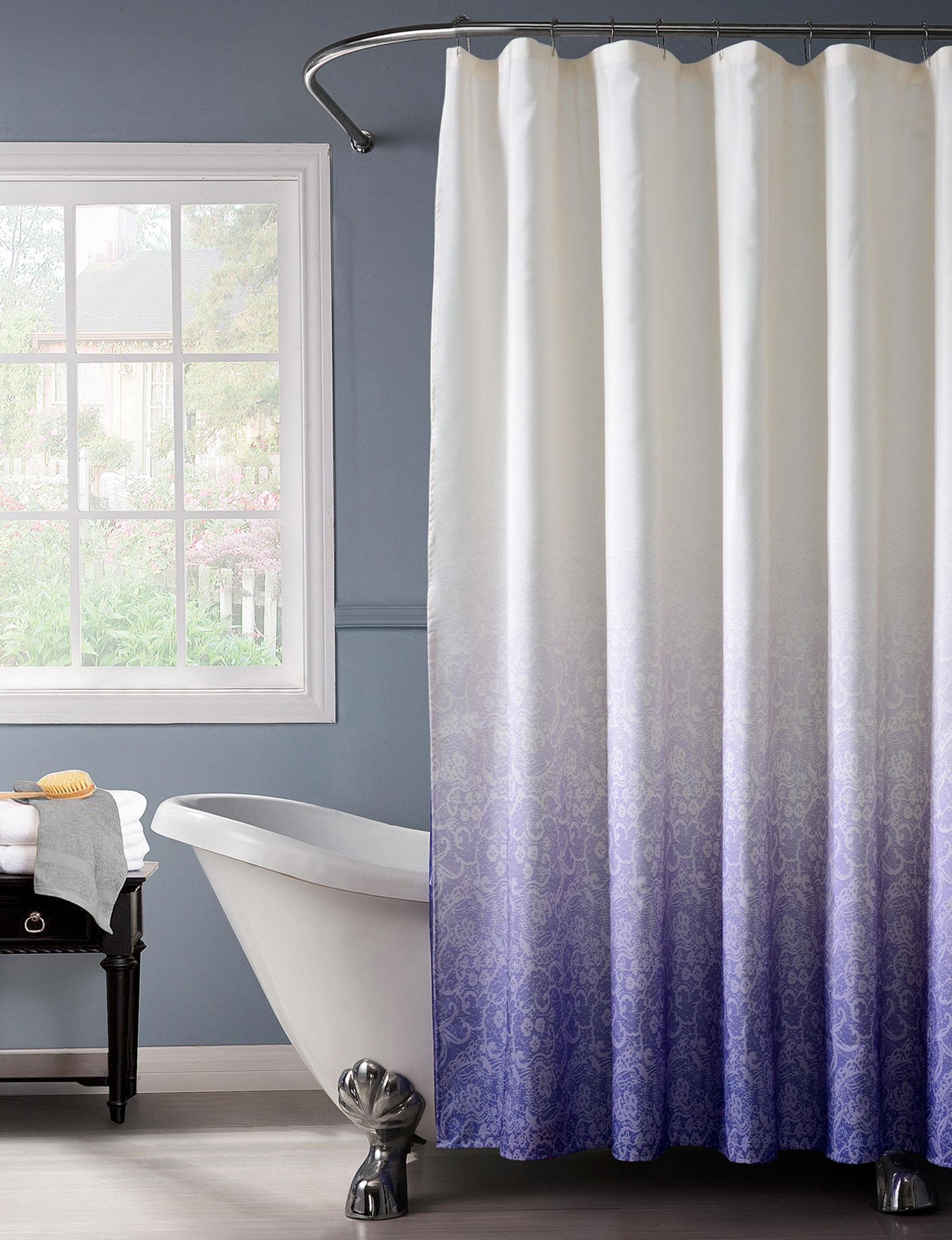 Home Details Purple Shower Curtains & Hooks
