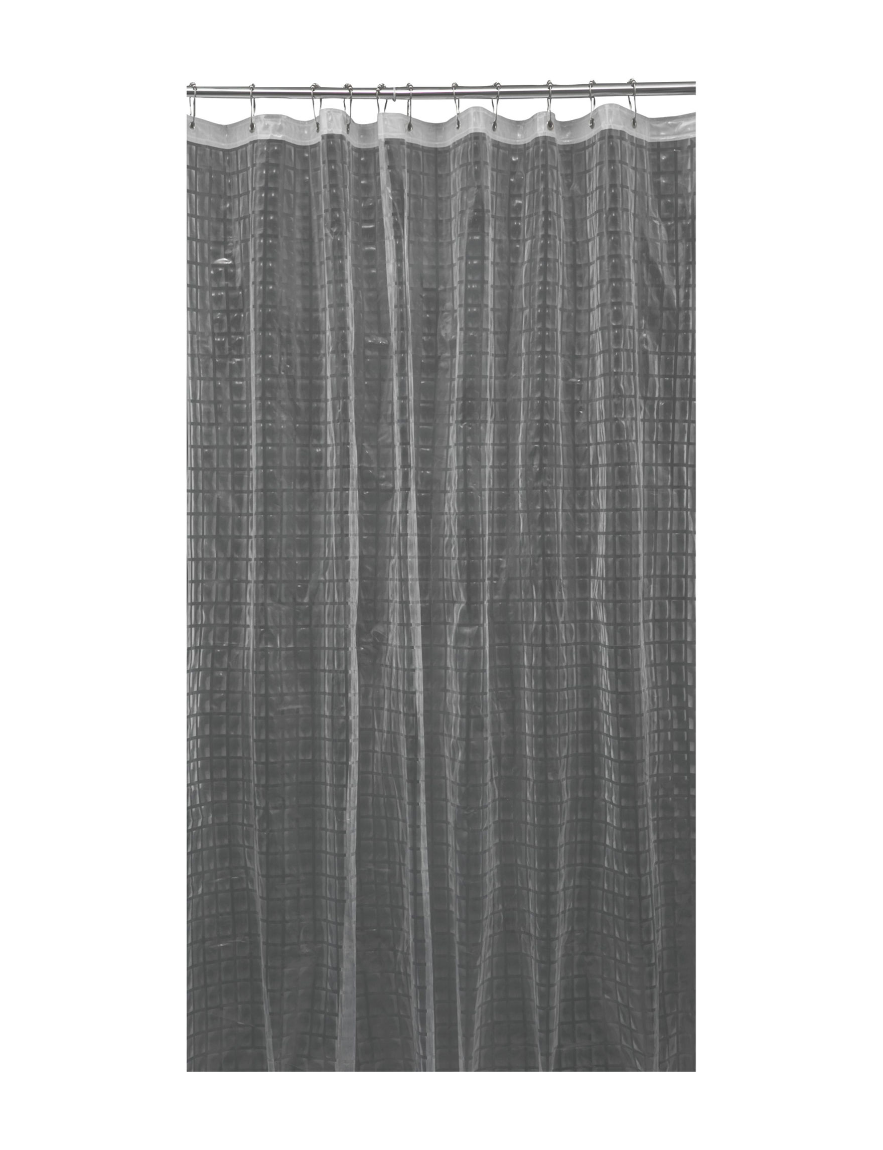 Home Details Grey Shower Curtains & Hooks