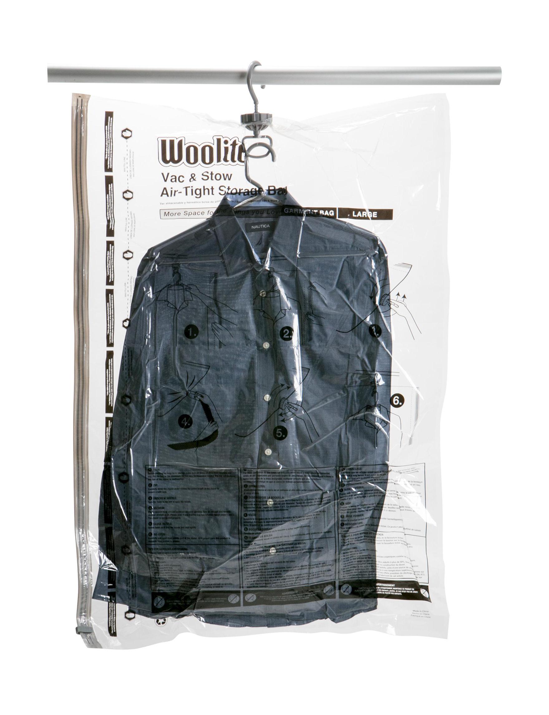 220c553b4b8b Woolite Vacuum-Sealed Hanging Storage Bag