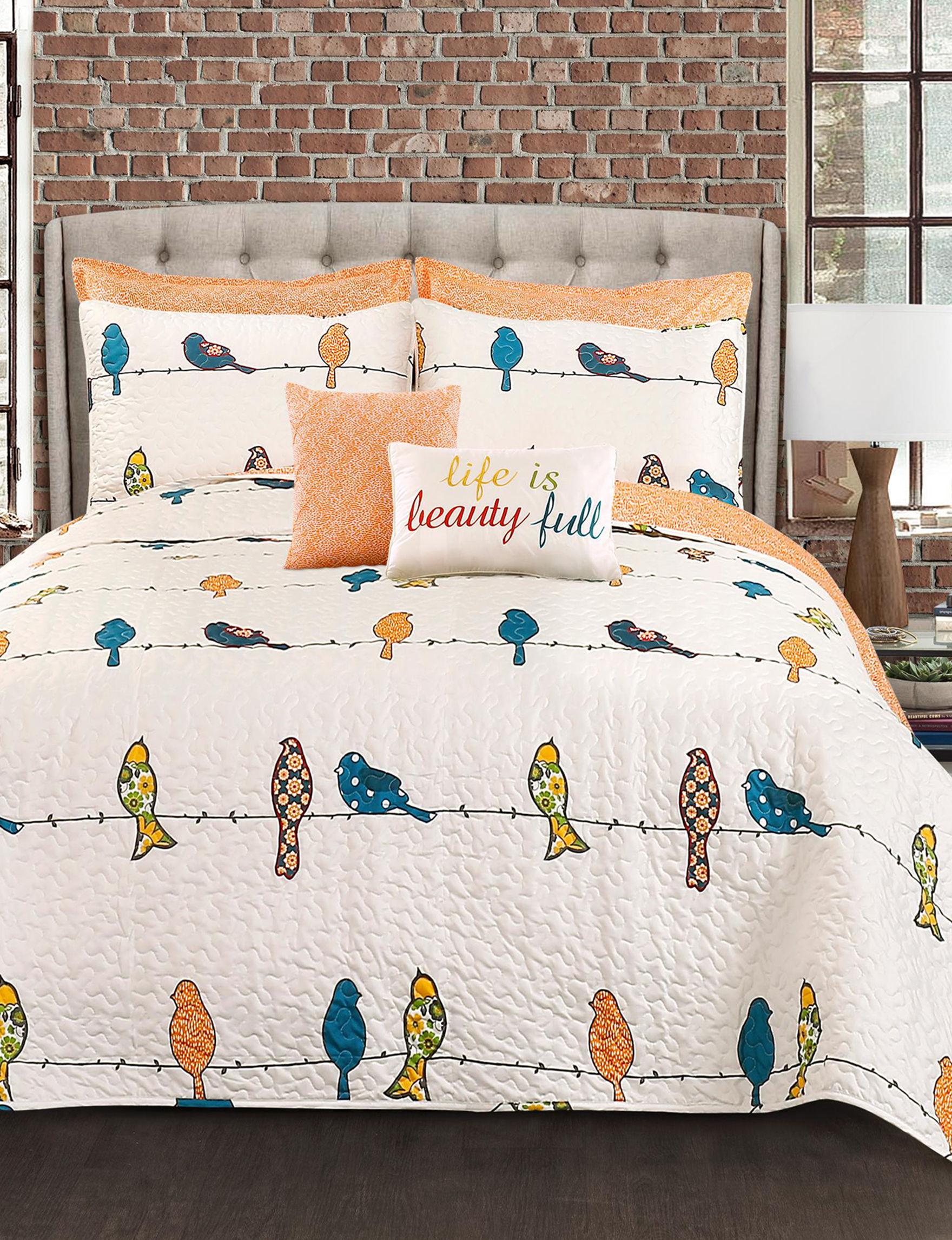 Lush Decor Blue / Orange Quilts & Quilt Sets