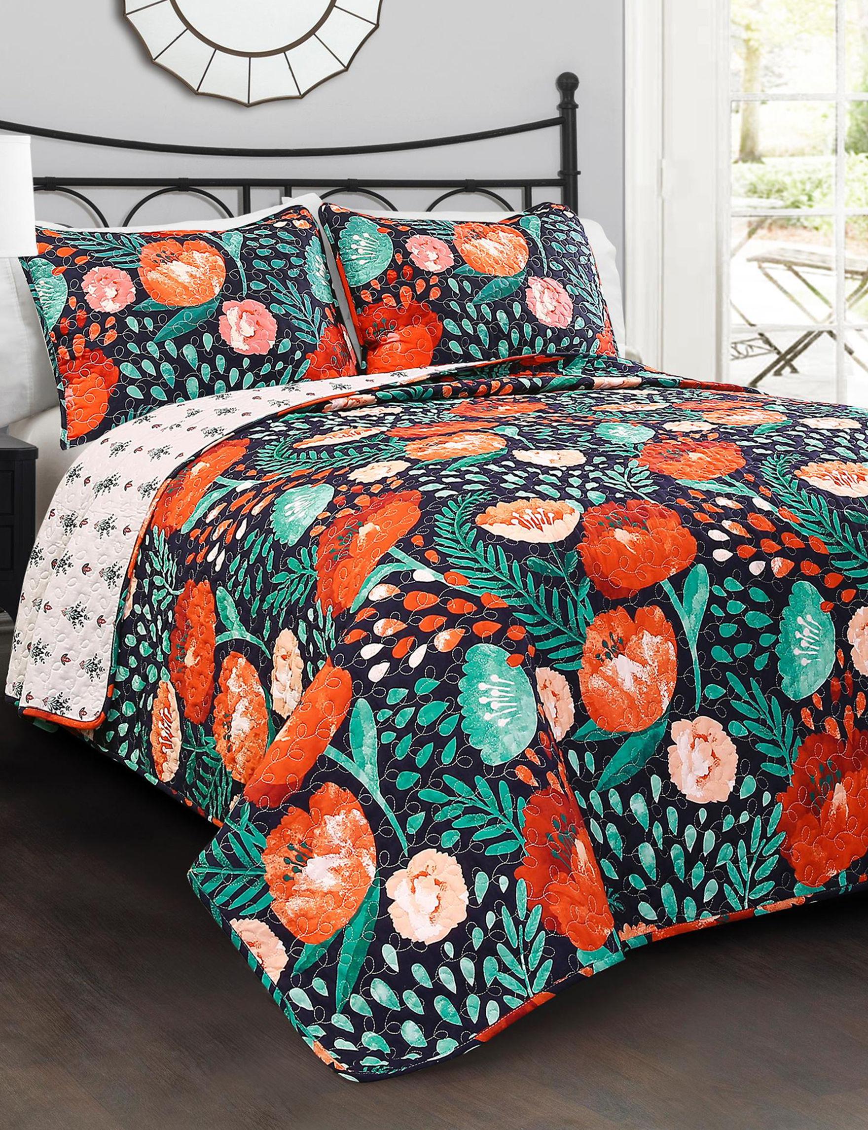Lush Decor Navy Multi Quilts & Quilt Sets