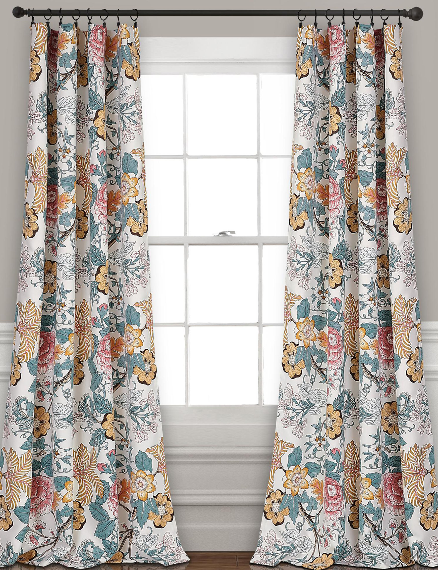 Lush Decor Yellow Floral Curtains & Drapes Window Treatments