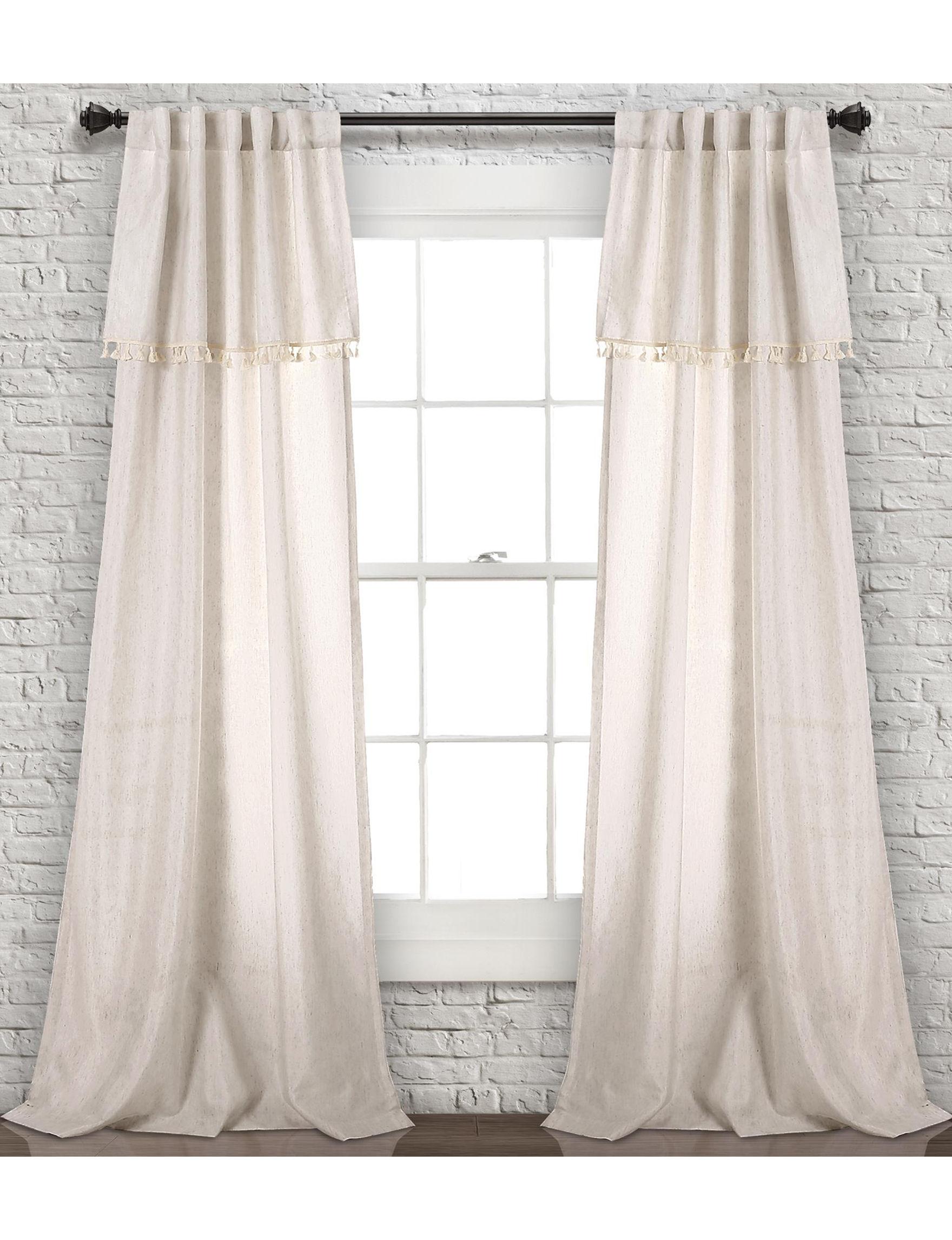 Lush Decor Beige Curtains & Drapes Window Treatments