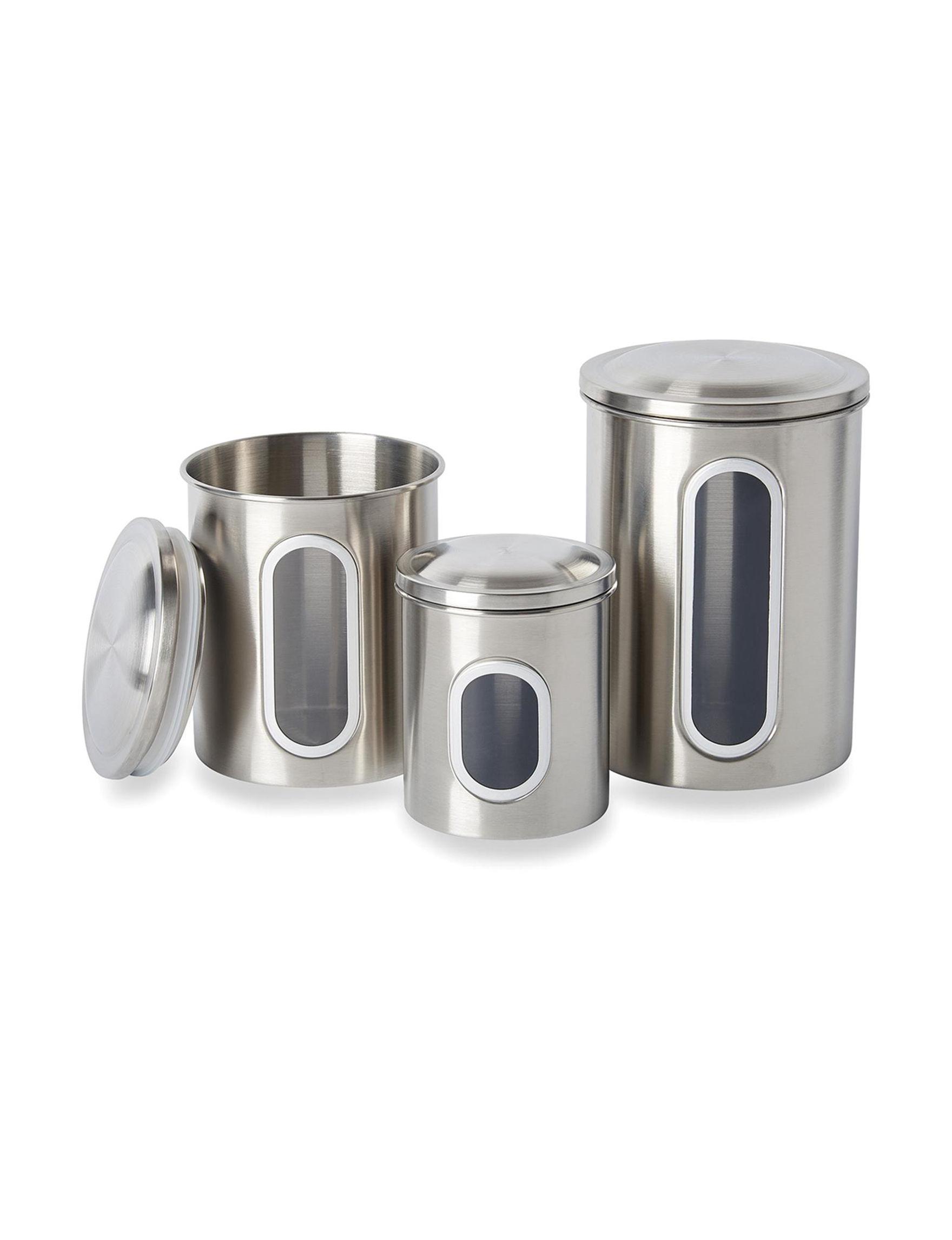 Fox Run Silver Canister Sets Kitchen Storage & Organization Storage & Organization