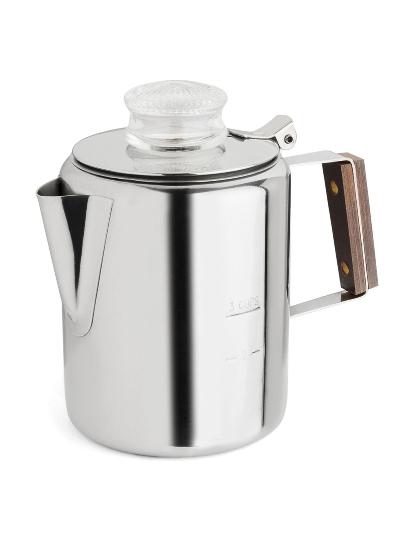 Fox Run Silver Coffee, Espresso & Tea Makers Drinkware