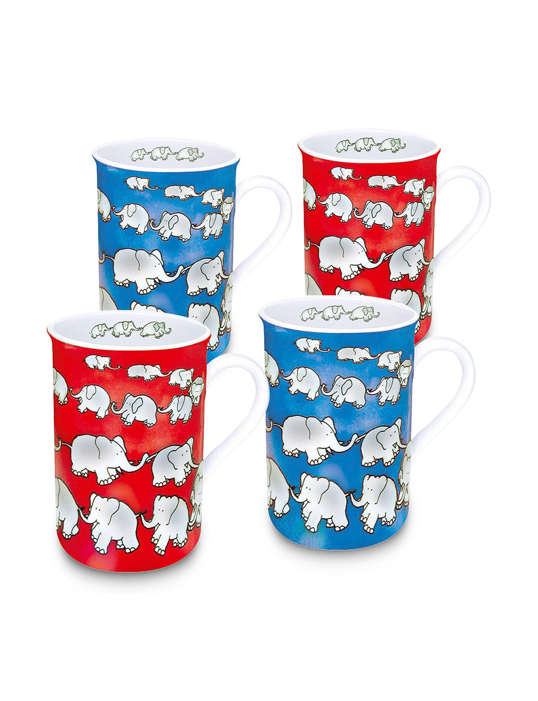 Konitz Blue/ Red Mugs Drinkware
