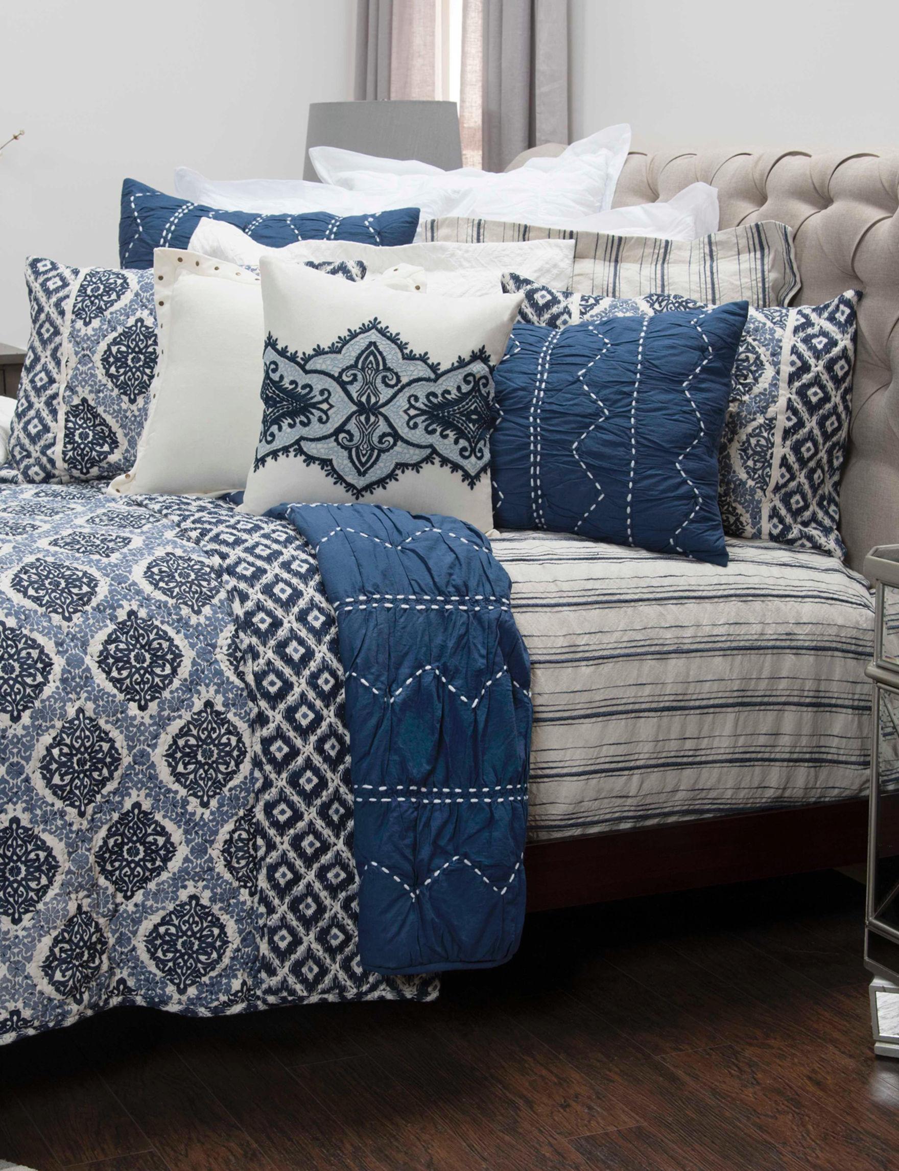 Rizzy Home Blue Pillow Shams