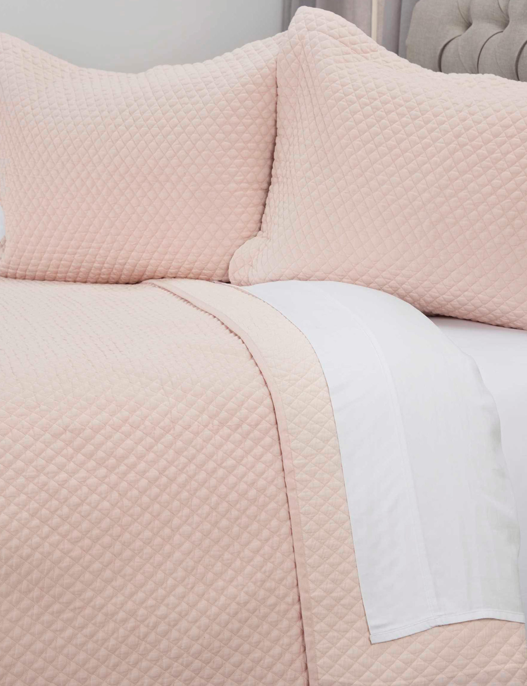 Rizzy Home Pink Pillow Shams