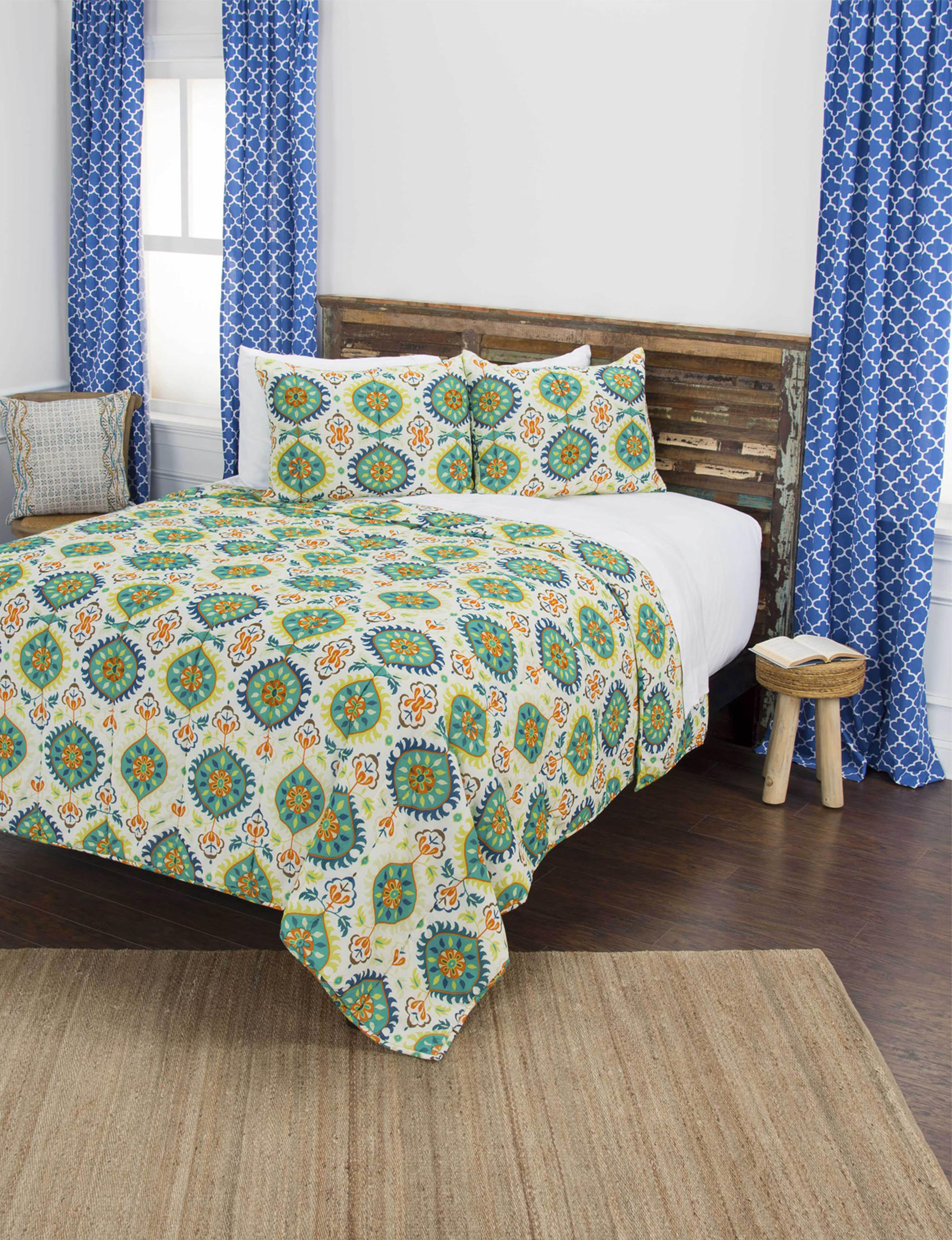 Rizzy Home Green Multi Quilts & Quilt Sets