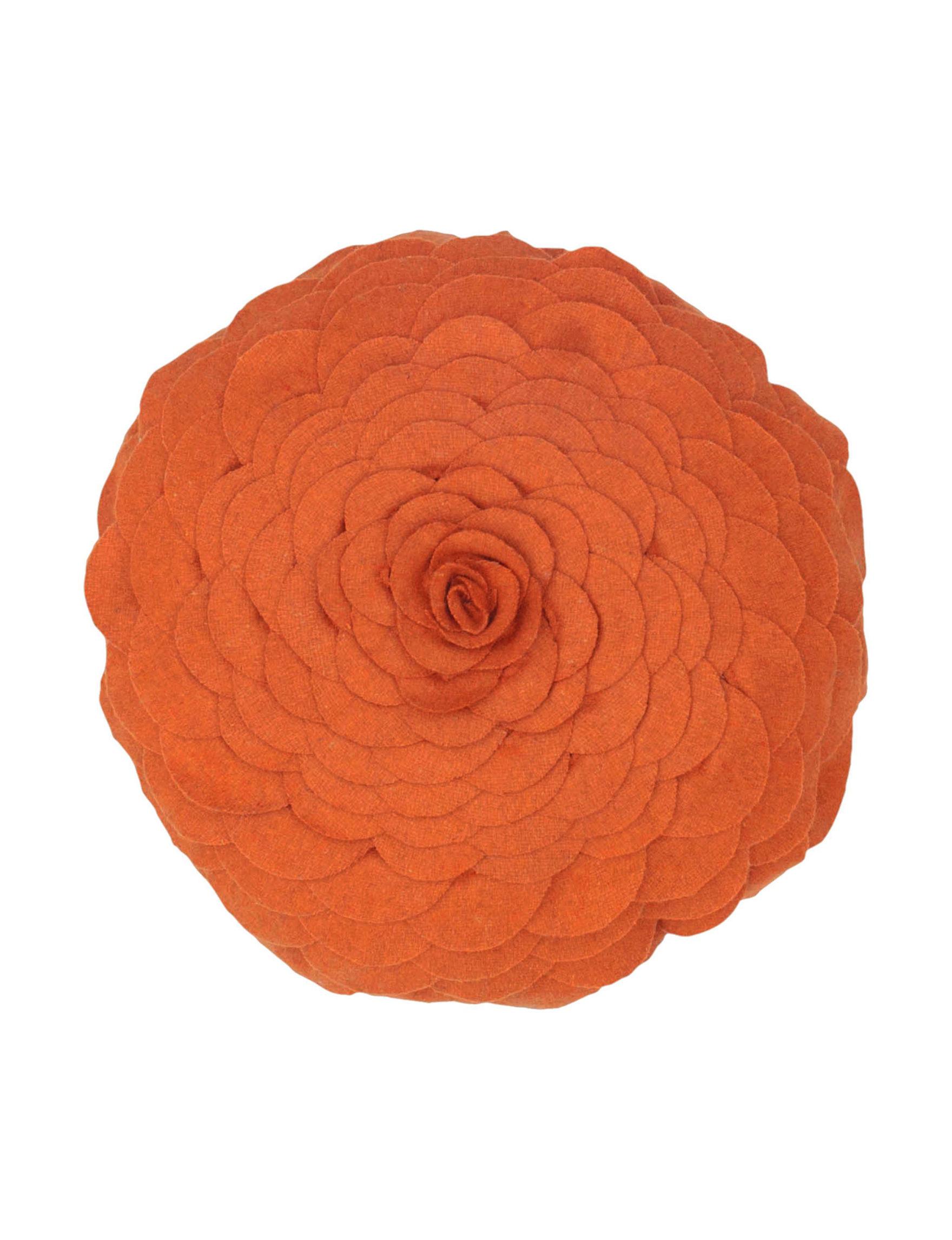 Rizzy Home Orange Floral Decorative Pillows